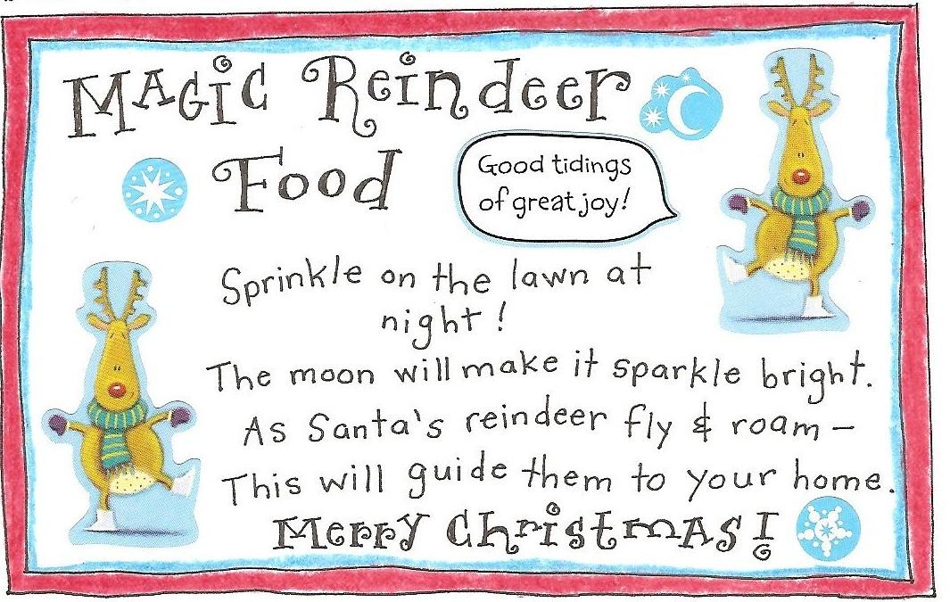 Reindeer Fun And FREE Printable Magic Reindeer Food Tag! Happy ...