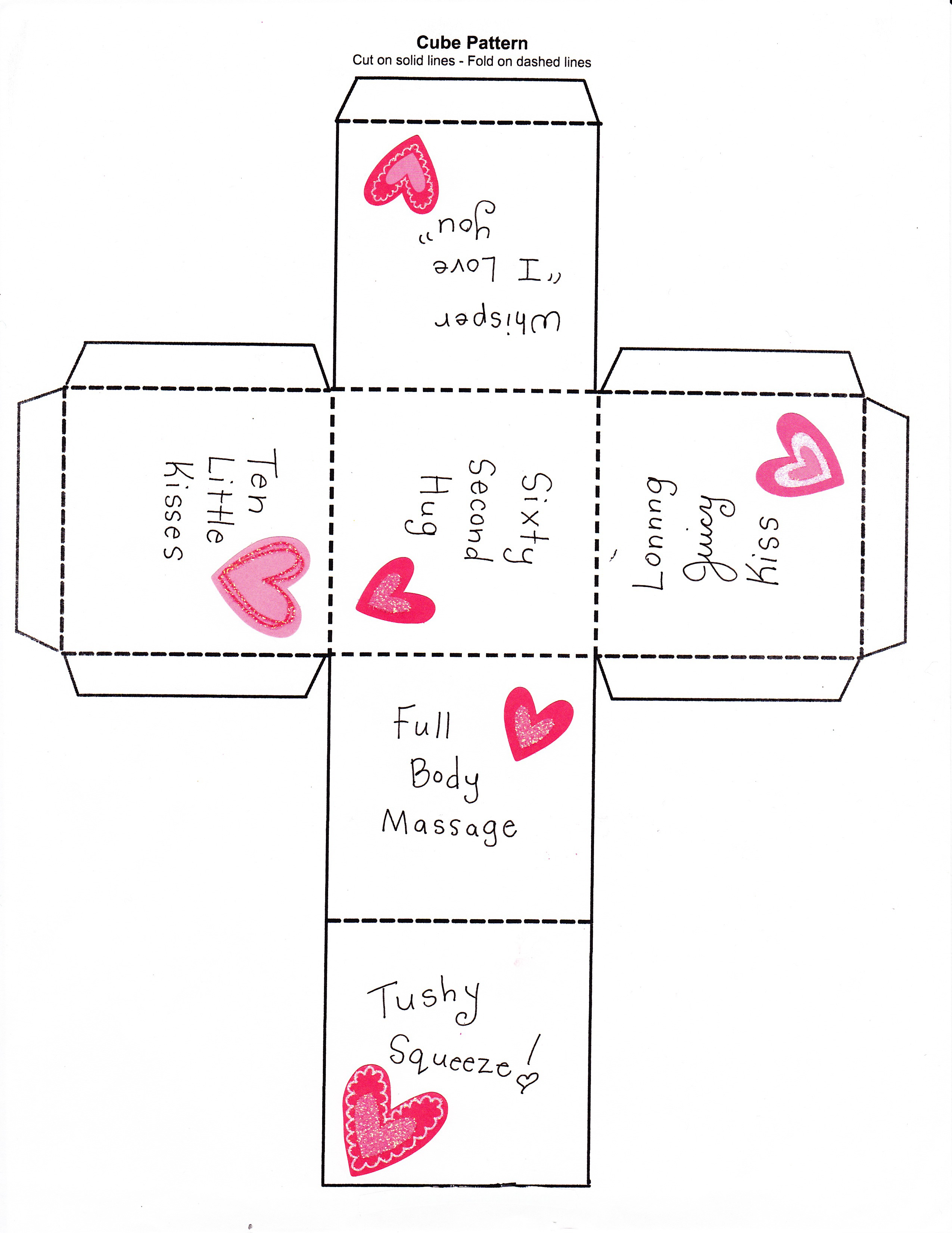 The 25 Days of Love Fun - Day 5: Love Dice - Happy Home Fairy