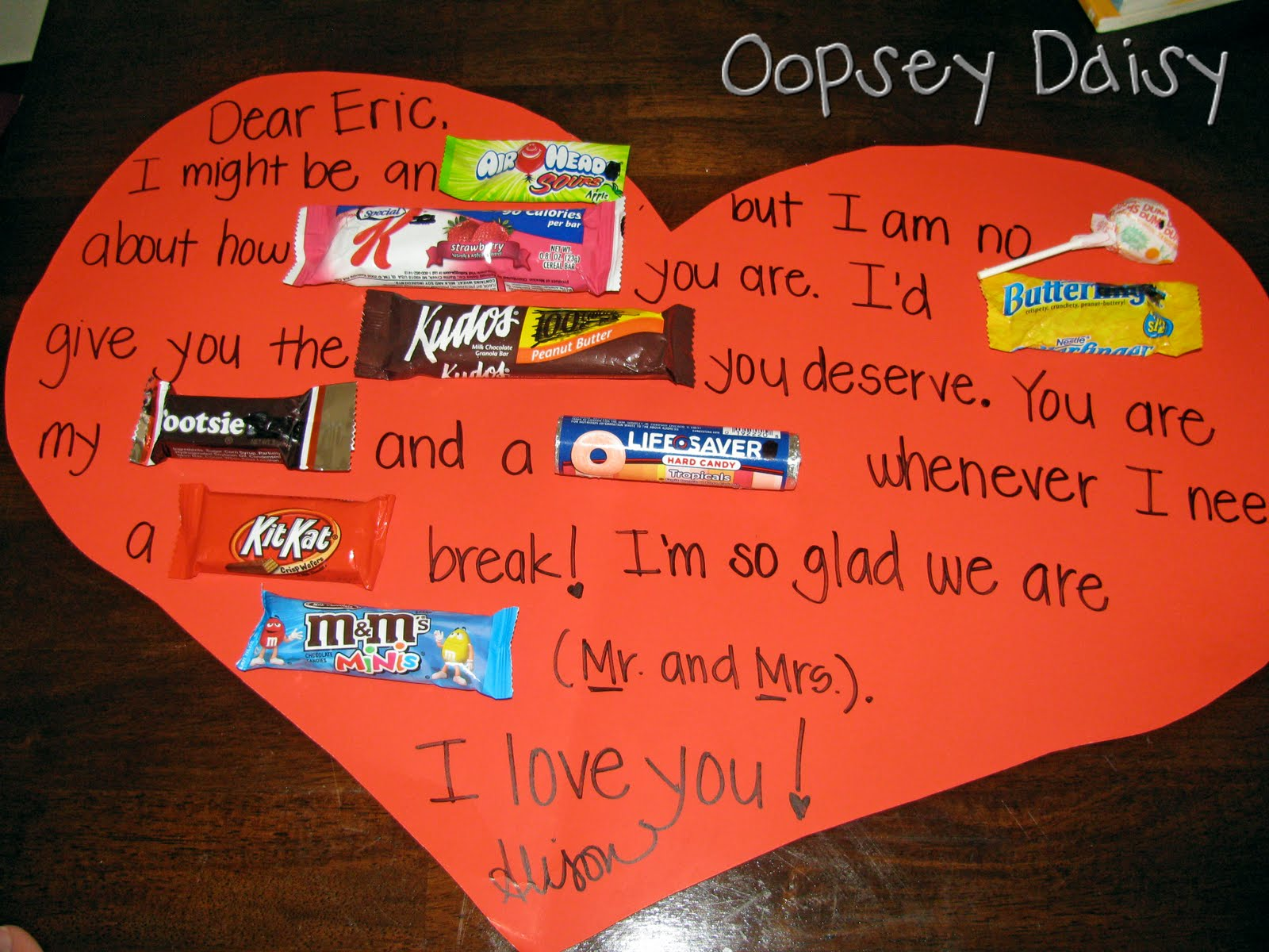 The 25 Days of Love Fun Day 20 Valentine Candy Grams Happy – Valentines Cards with Candy