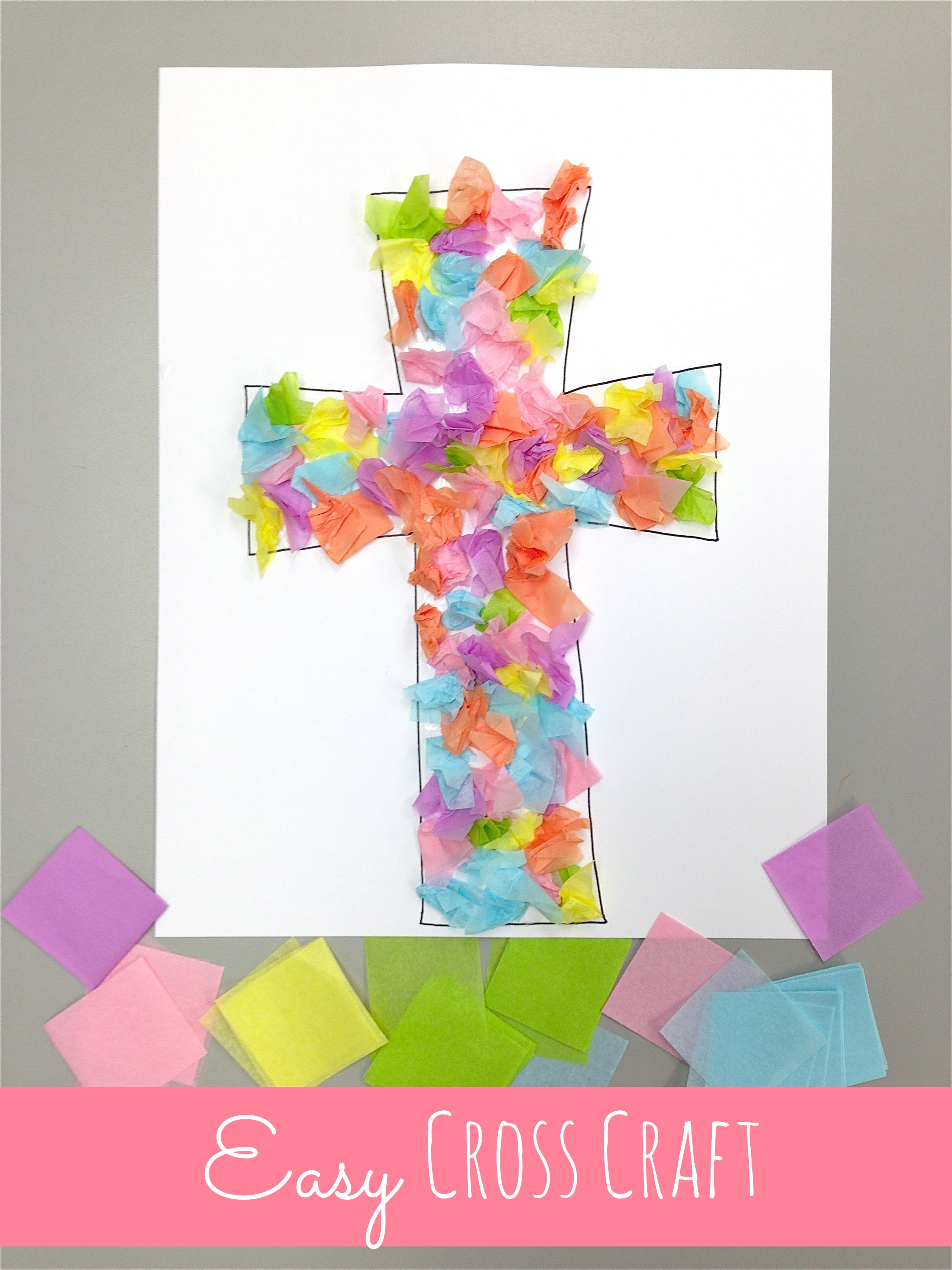 Cross crafts celebrating the reason for easter happy for Kids crafts for church