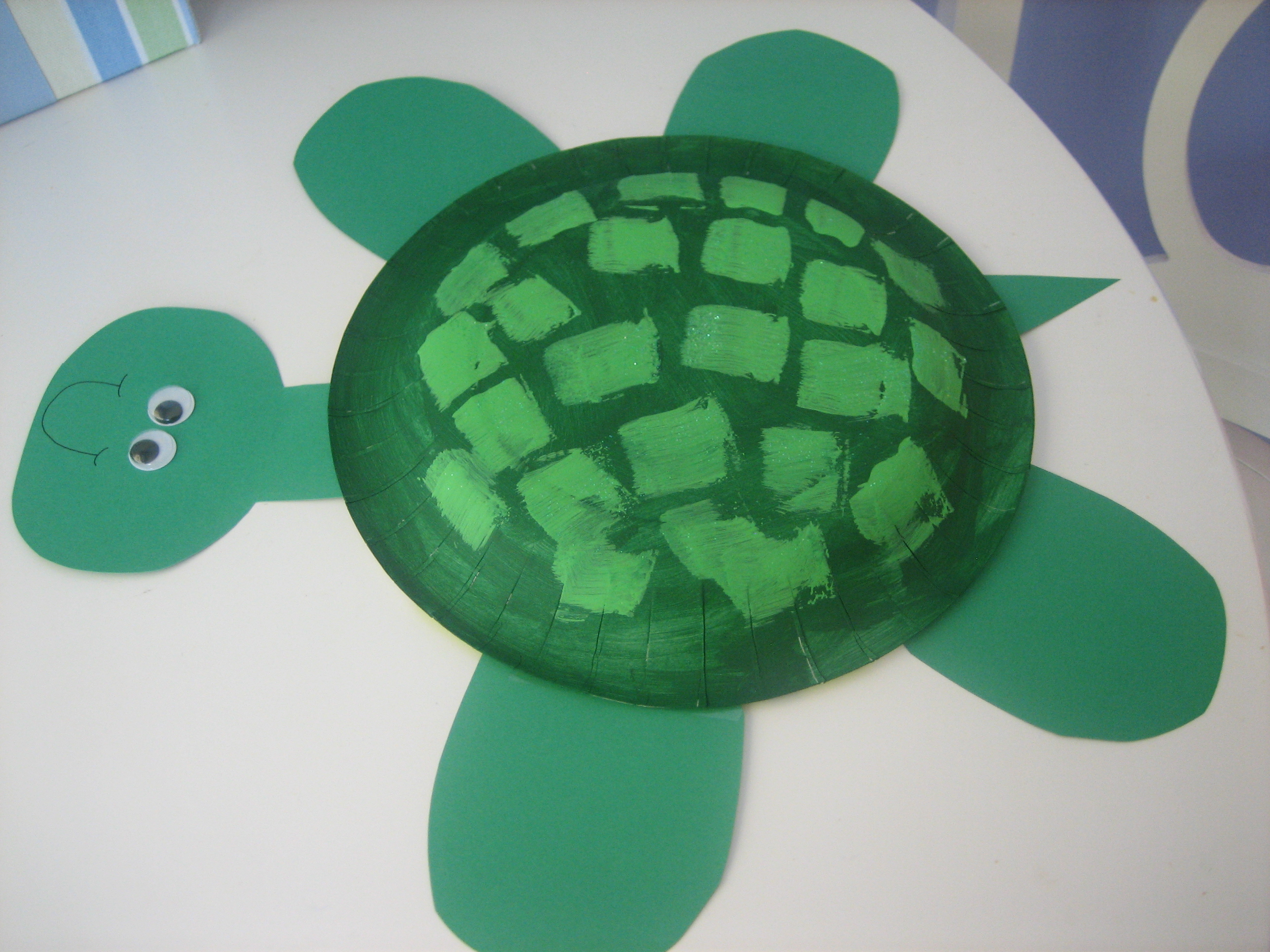 Summer craft paper plate turtle happy home fairy for Paper plate craft images