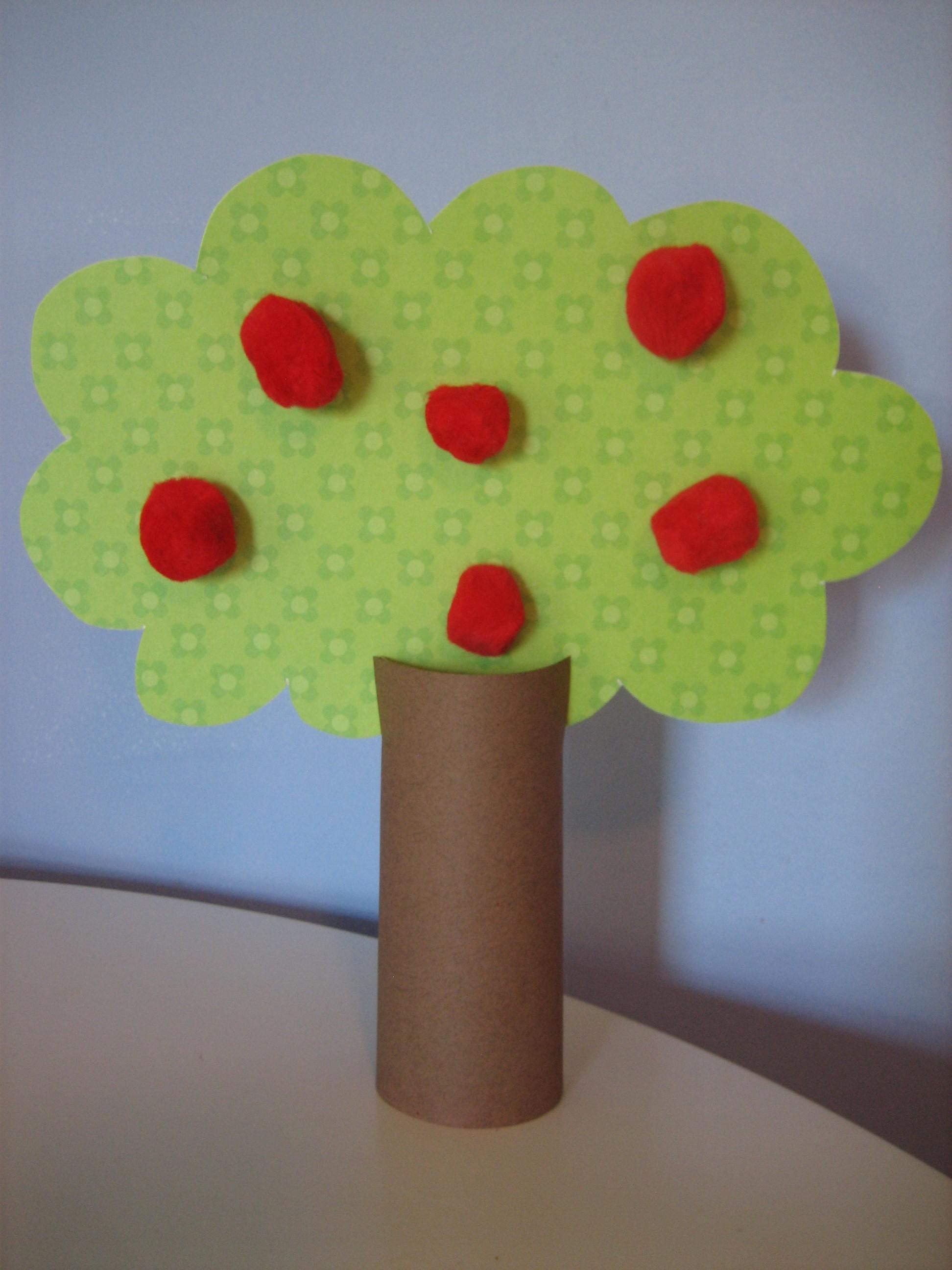 Craft an apple tree happy home fairy - Como hacer un arbol de papel grande ...