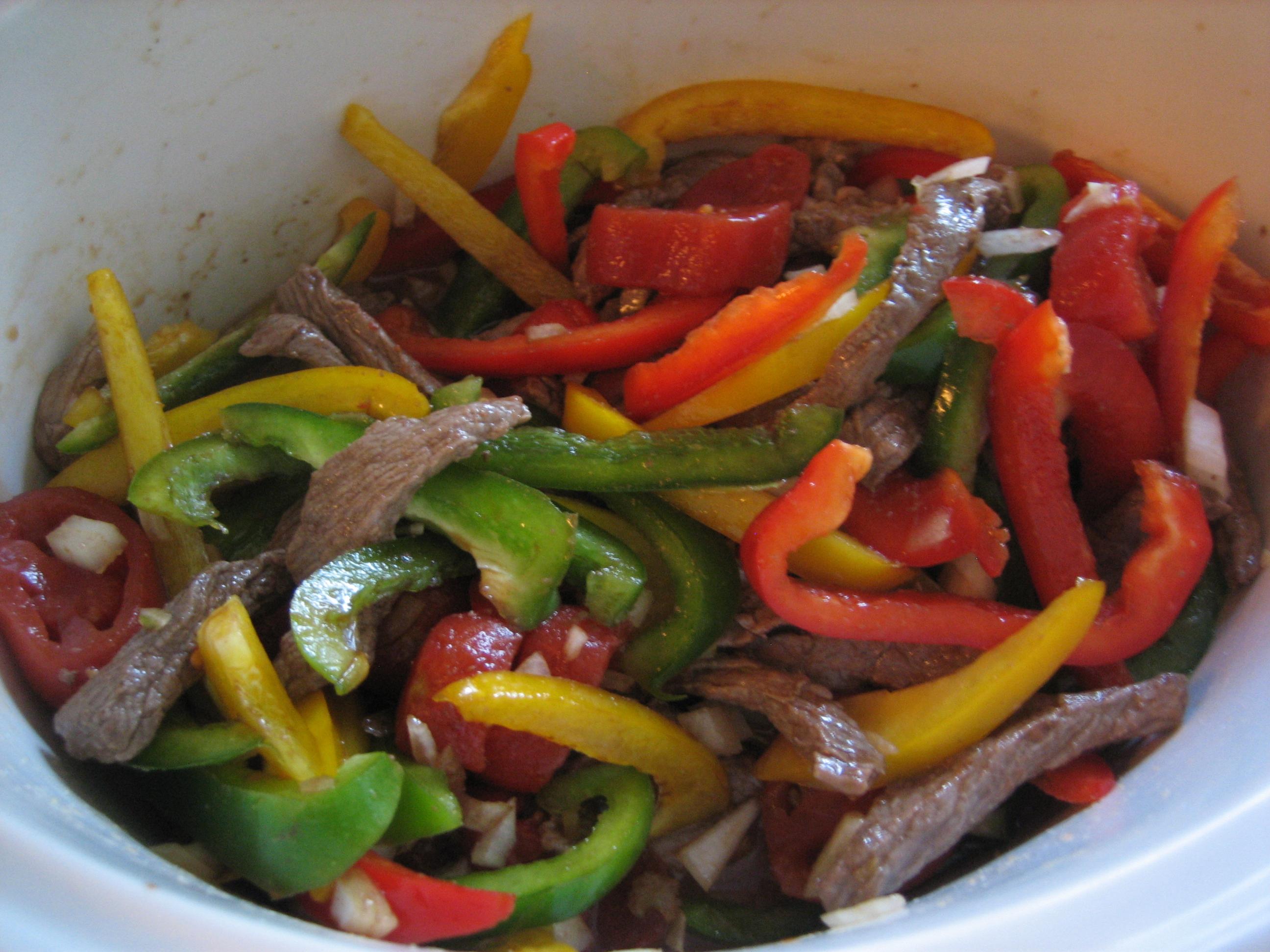 Recipe - Slow Cooker Pepper Steak - Happy Home Fairy