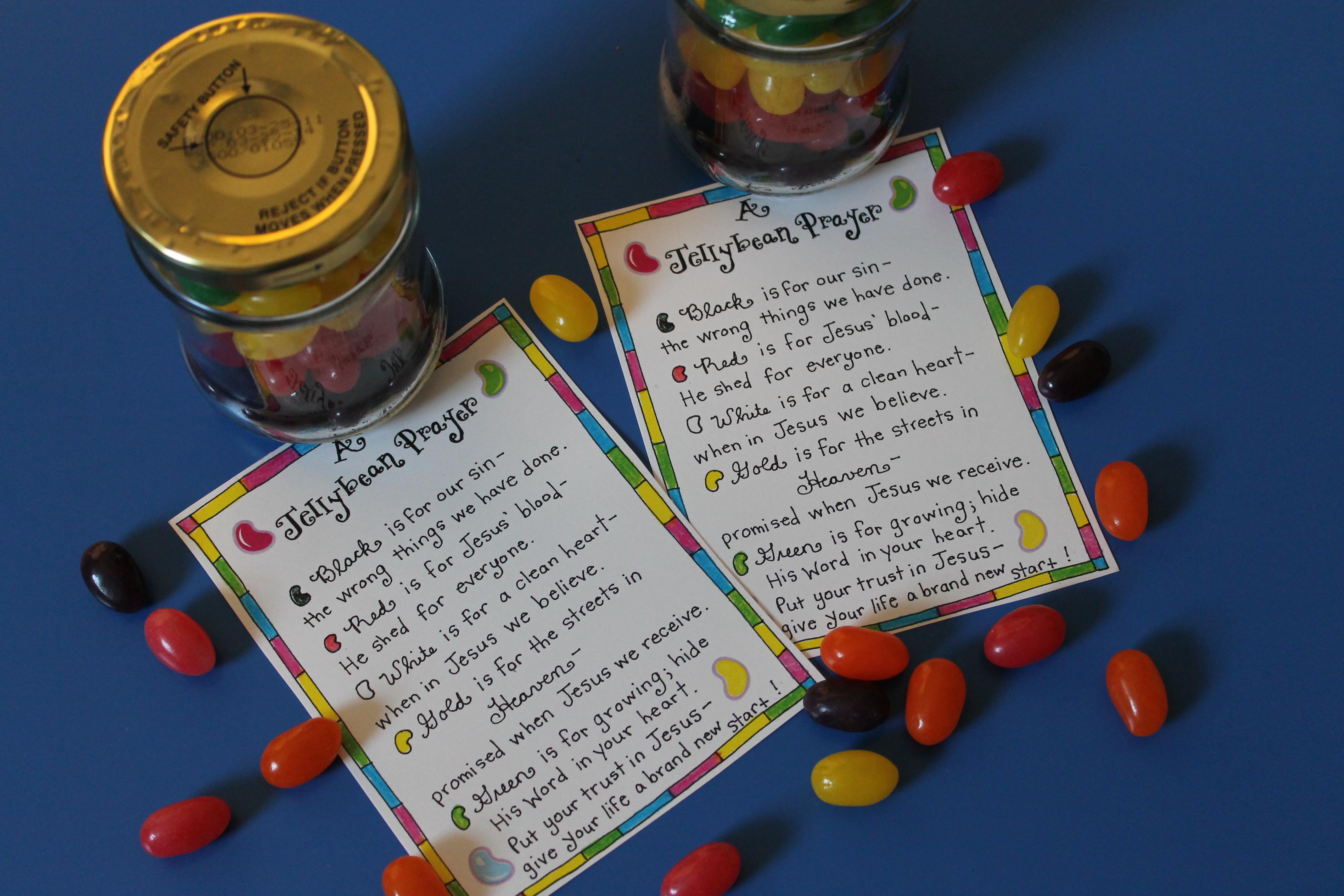 The Jellybean Prayer Free Printable on The Jellybean Prayer Free Printable