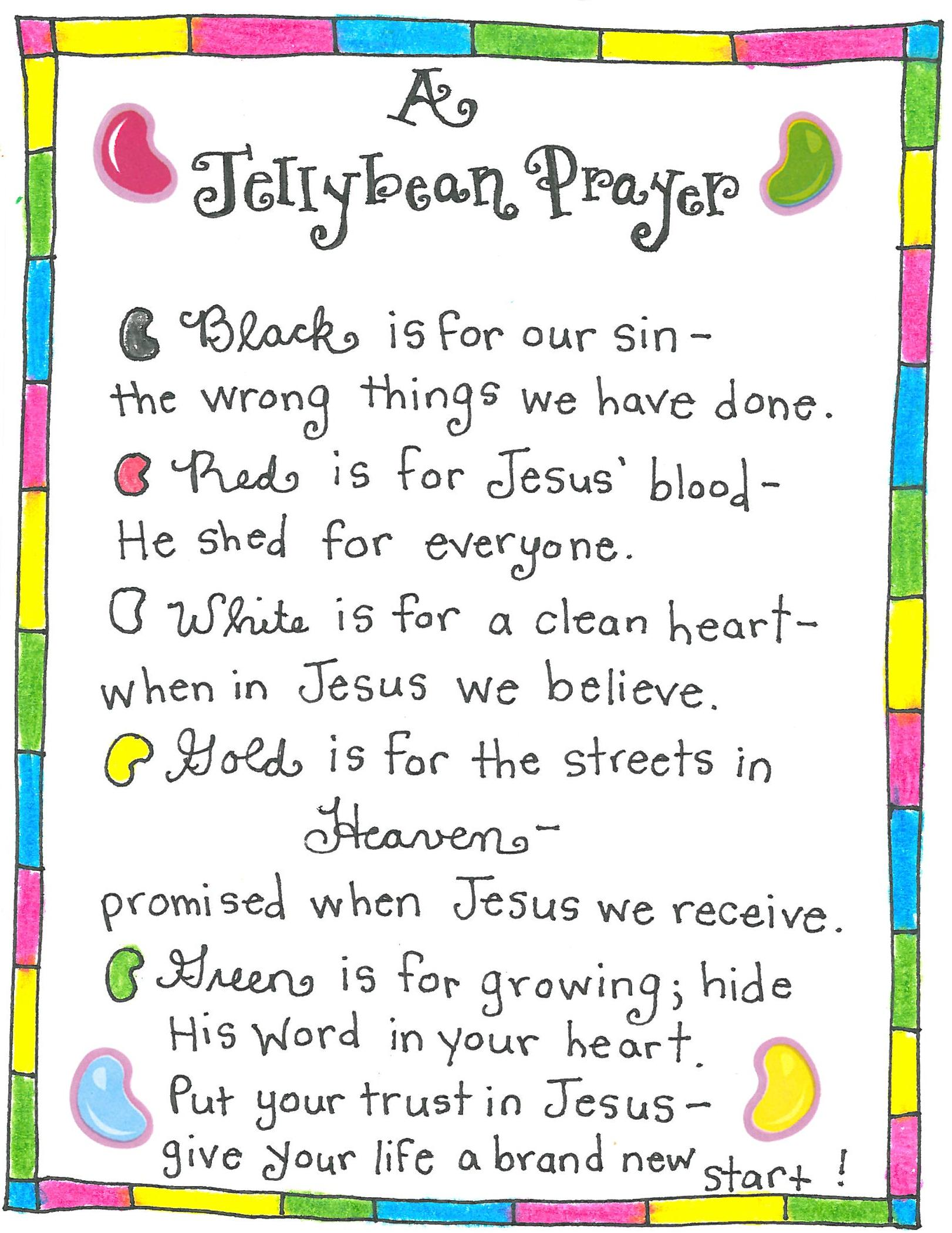 Easter Prayer For Kids The Jellybean Free Printable Happy