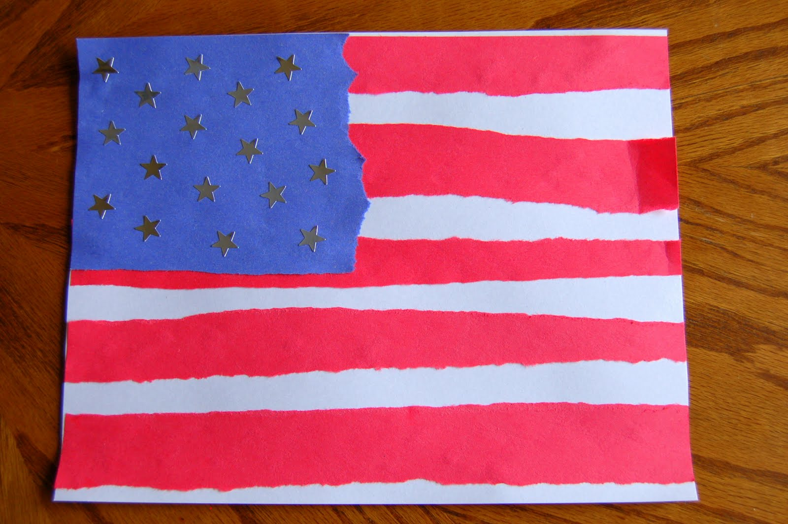 Pinterest Flag Crafts With Construction Paper
