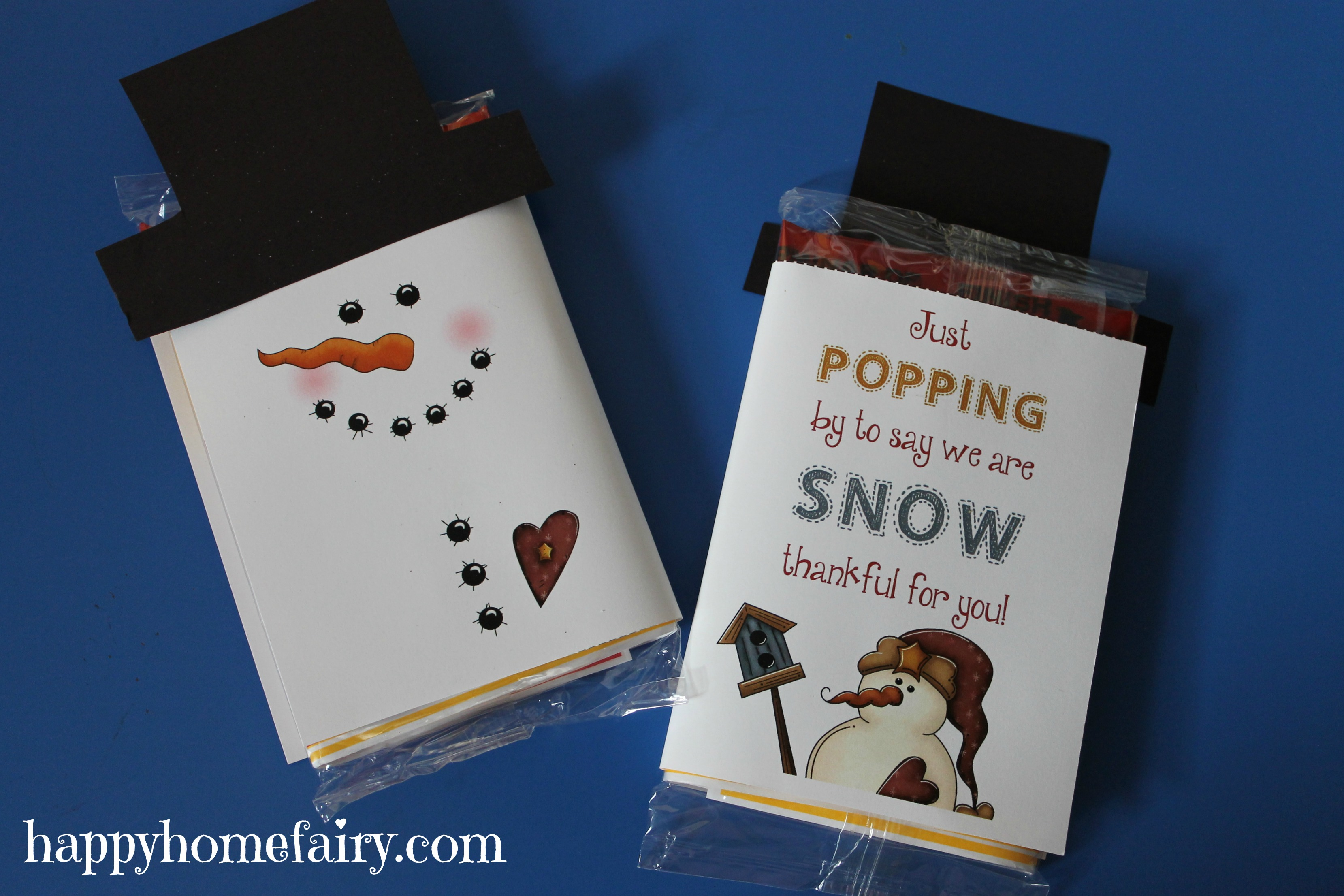 Snowman Popcorn Wrapper - FREE Printable! - Happy Home Fairy