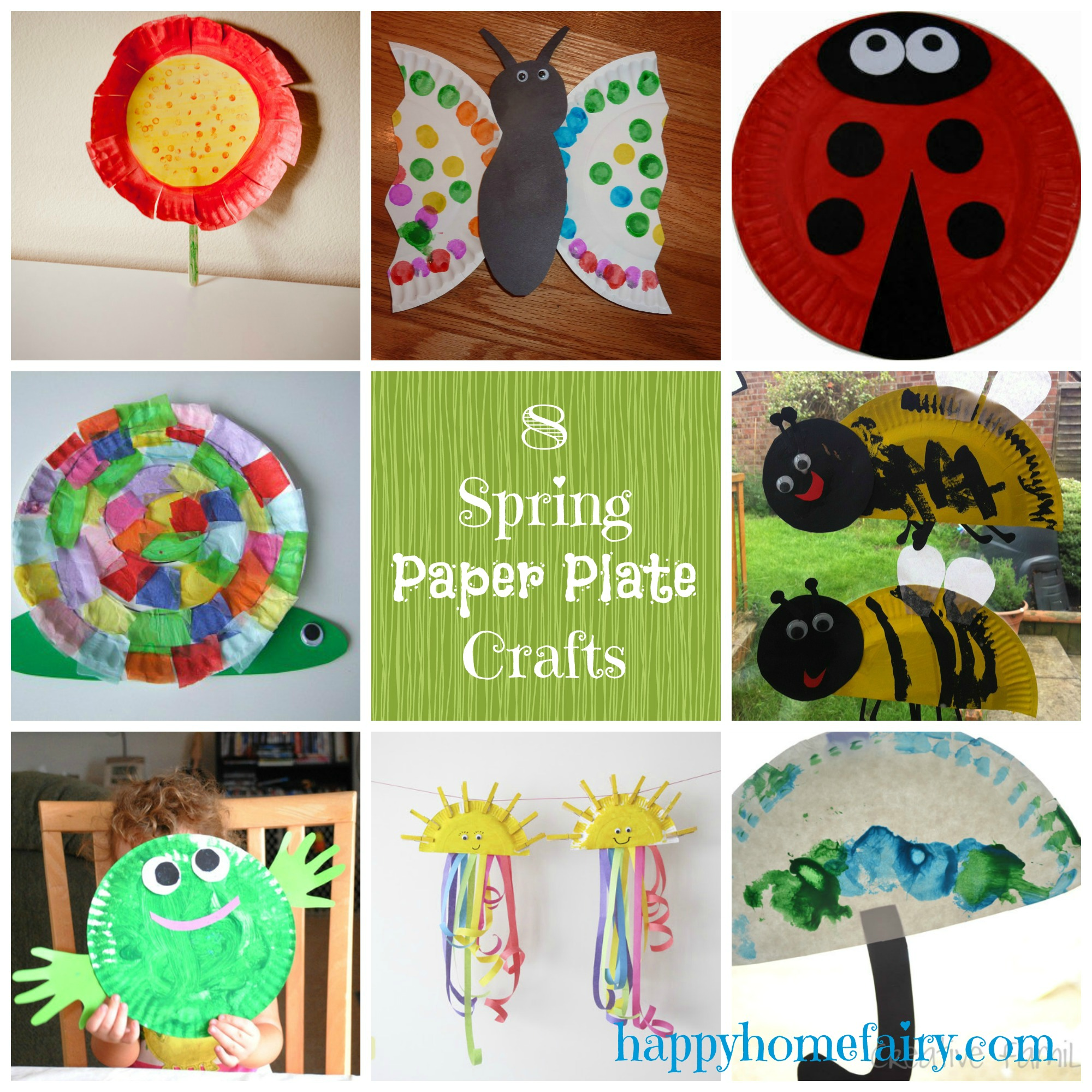 Paper plate crafts for spring happy home fairy for Easy paper plate crafts