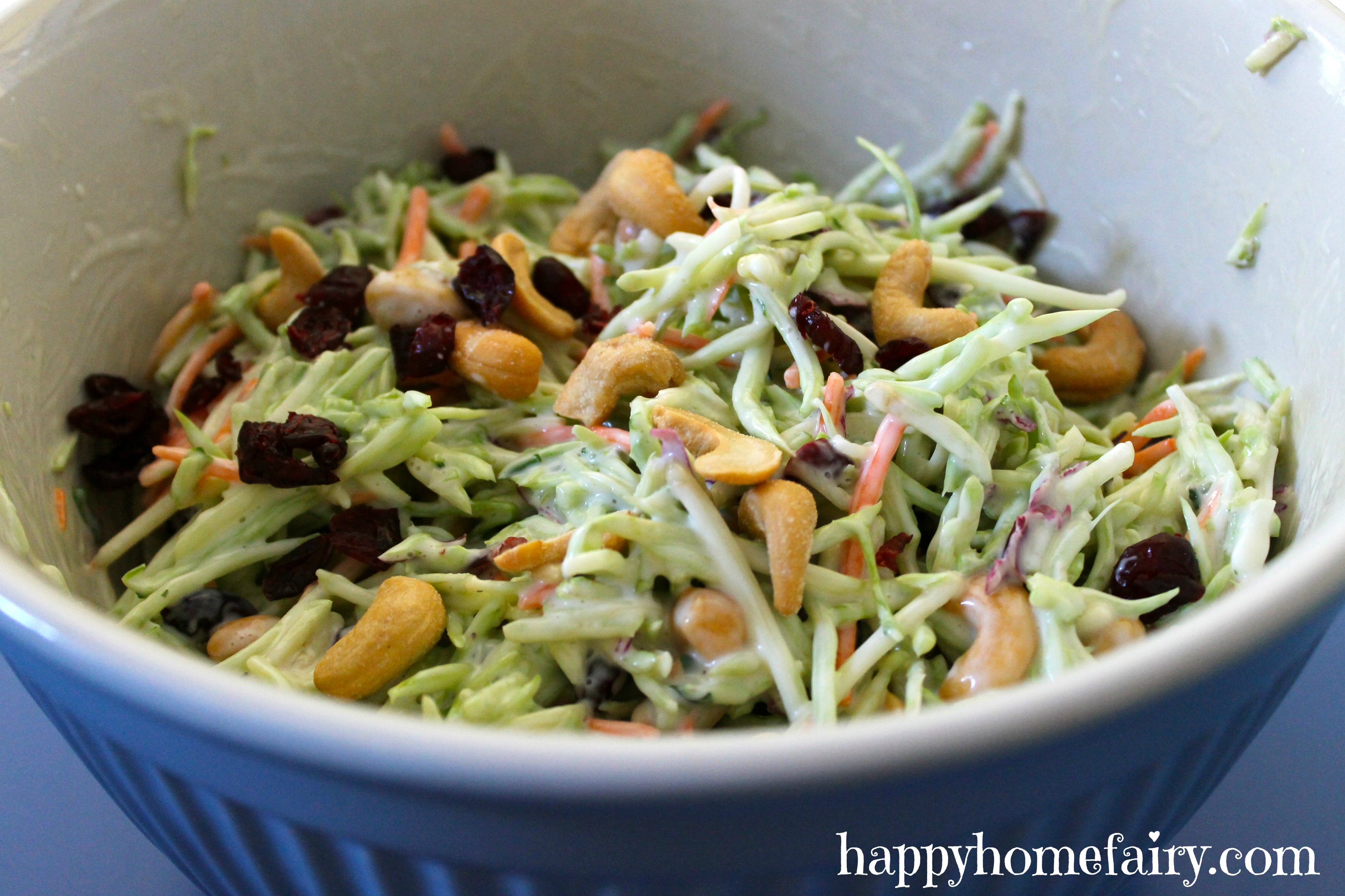 Recipe - Broccoli Slaw - Happy Home Fairy