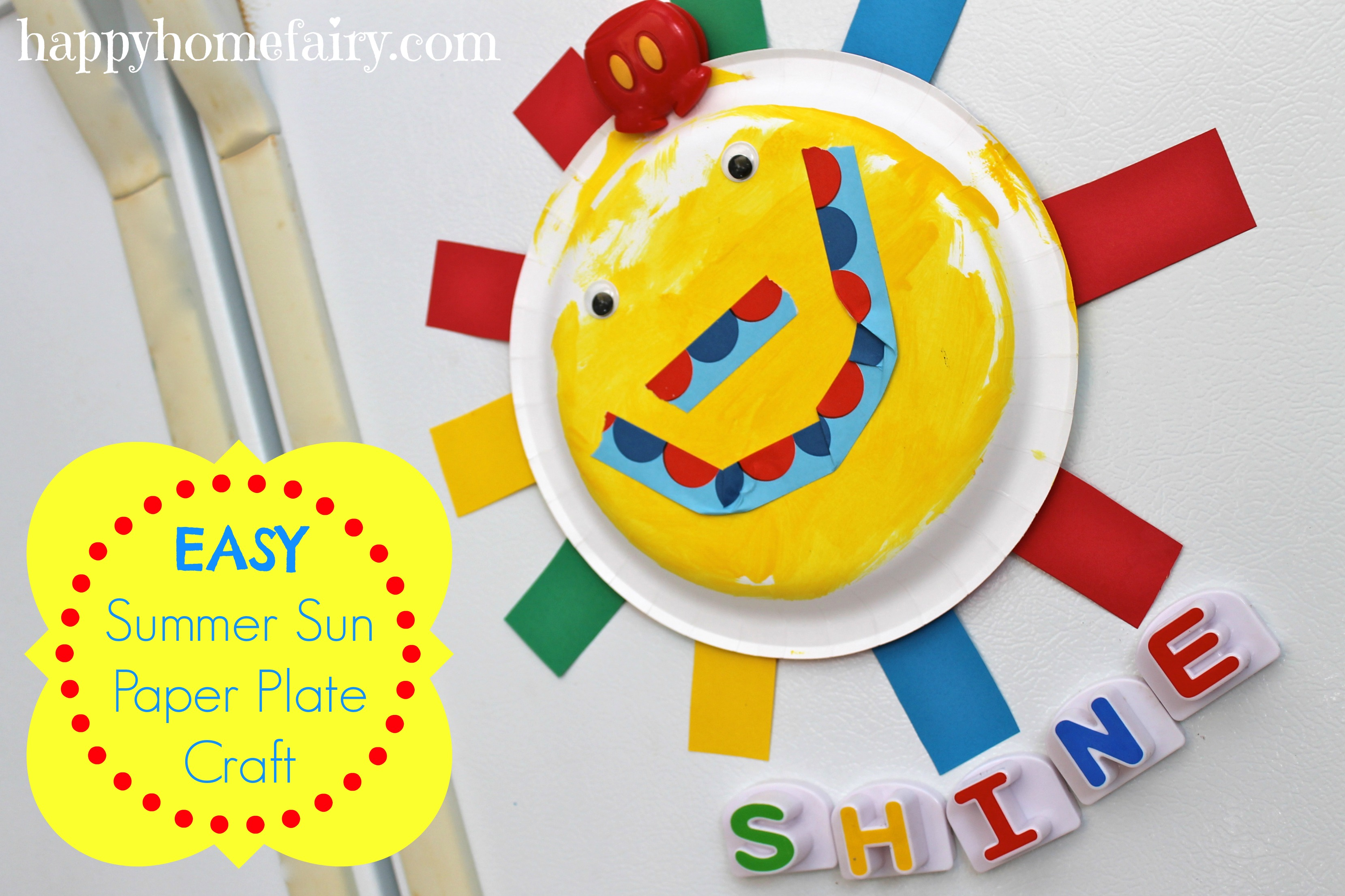 Easy summer sun paper plate craft happy home fairy for Easy paper plate crafts