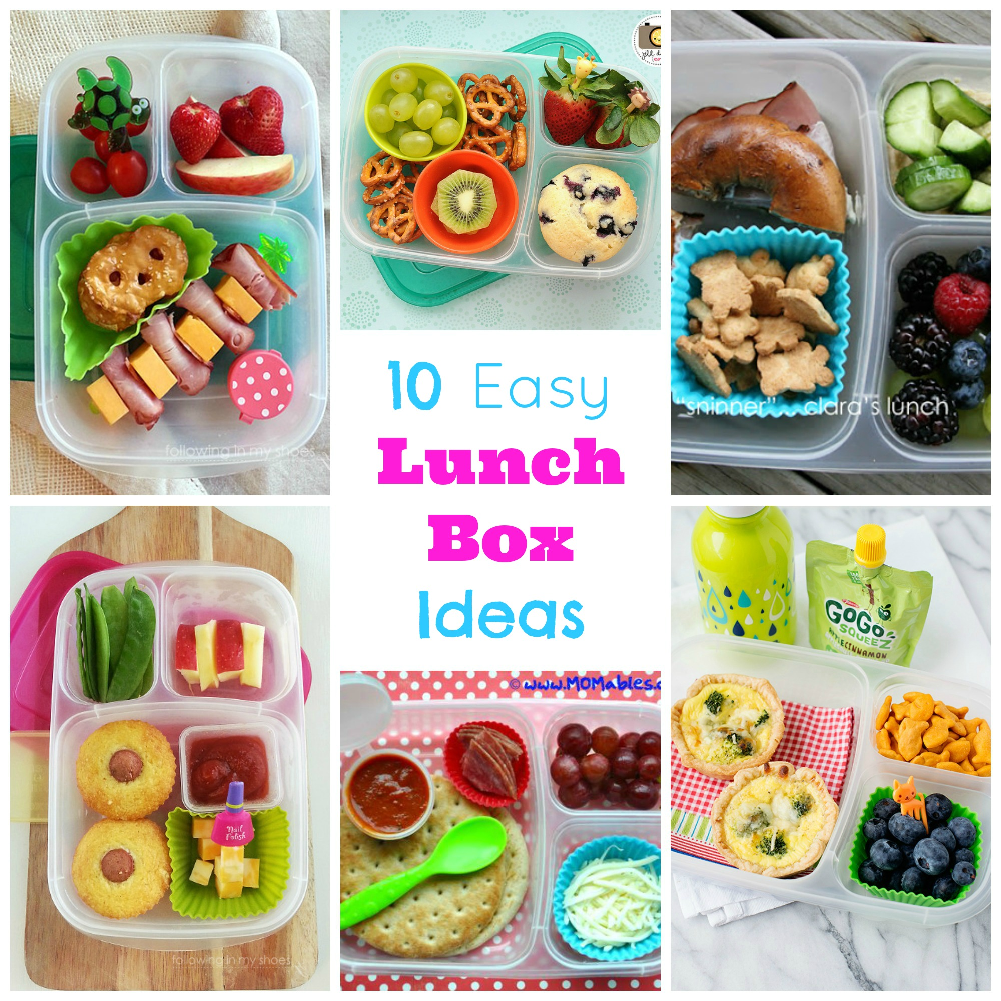 Image gallery lunch box food ideas for Lunch food ideas