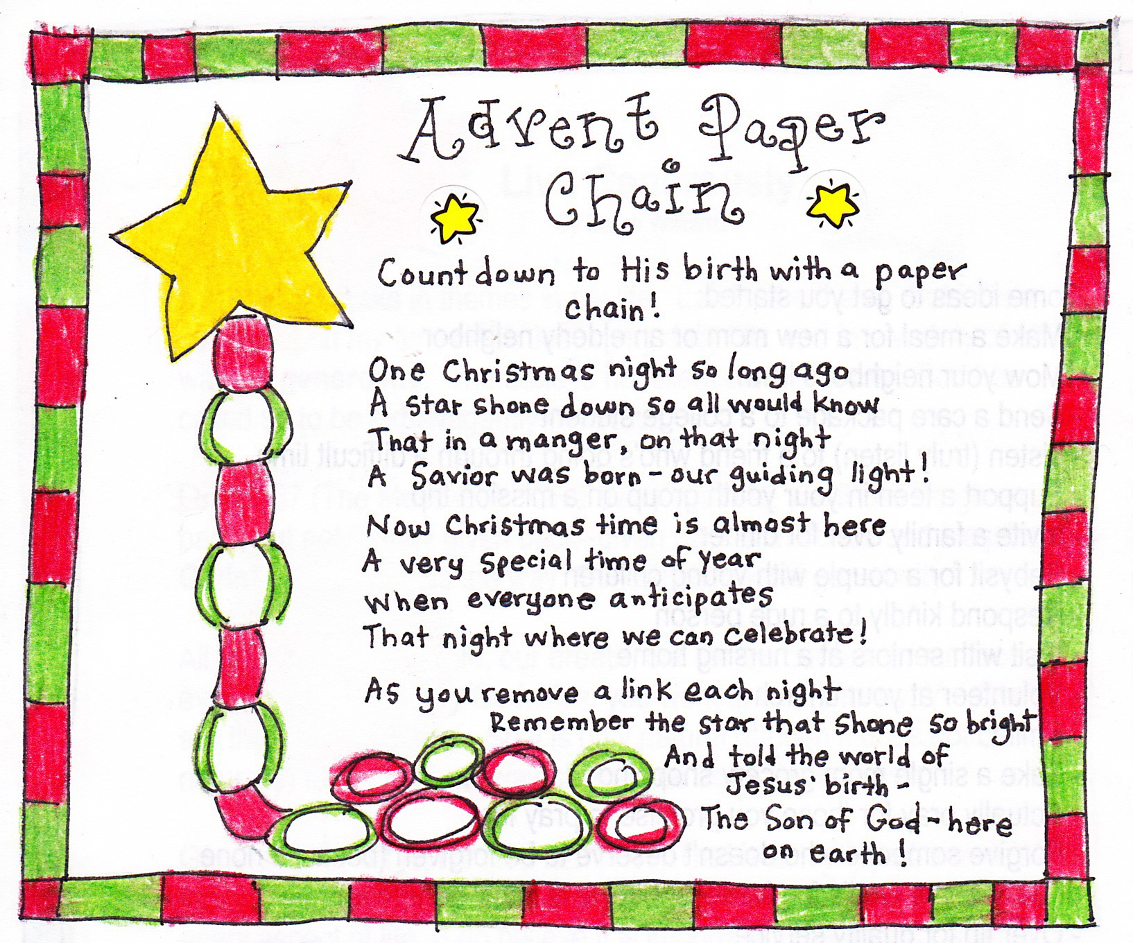 Advent Paper Chain Countdown - FREE Printable - Happy Home Fairy