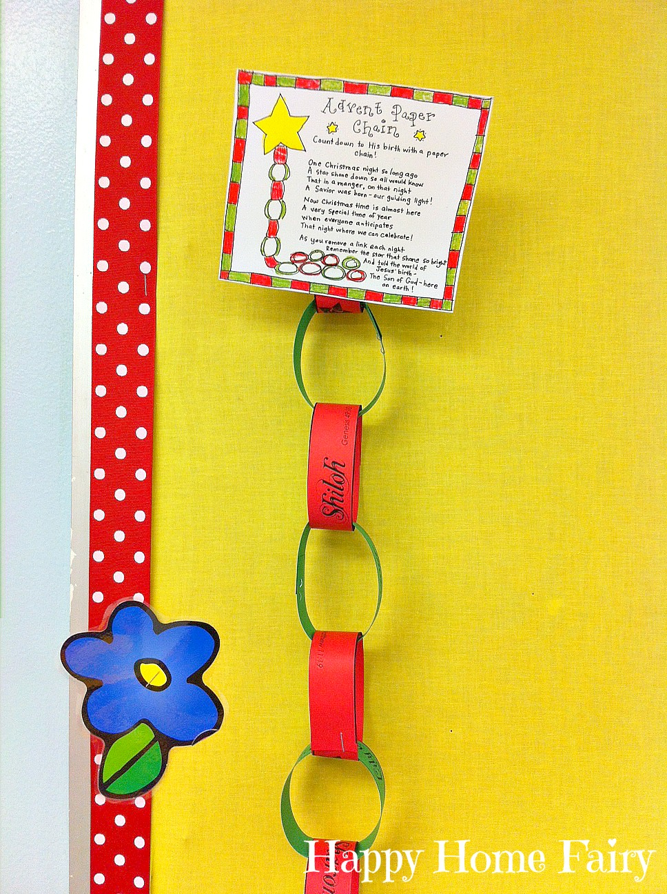 Advent Calendar Craft Kindergarten : Advent paper chain countdown free printable happy home