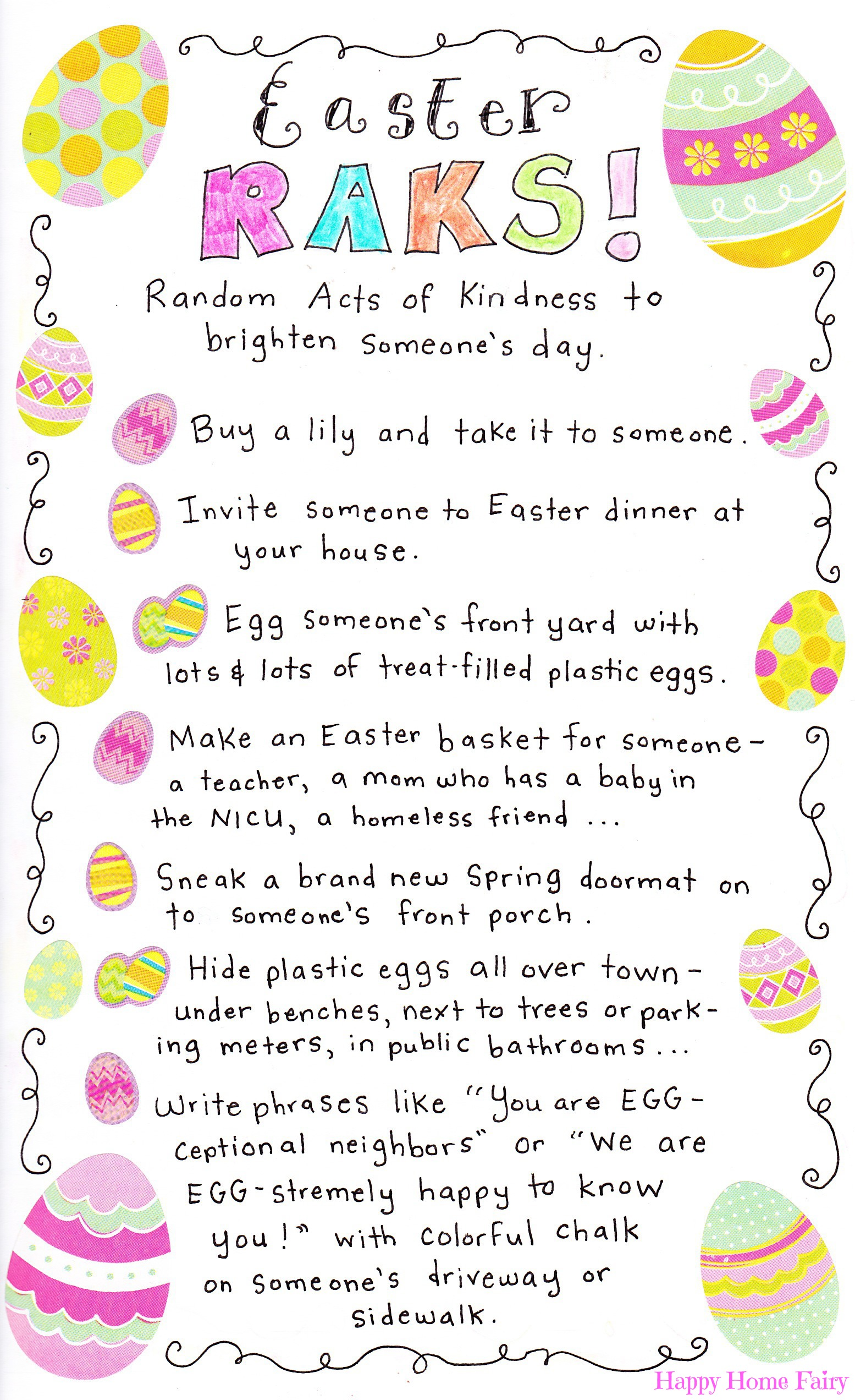 Random Acts Of Kindness For Easter Happy Home Fairy