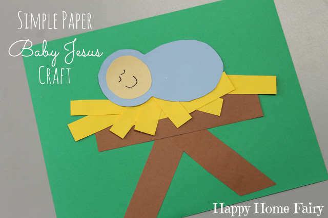 baby jesus craft for preschoolers simple paper baby jesus craft happy home 401