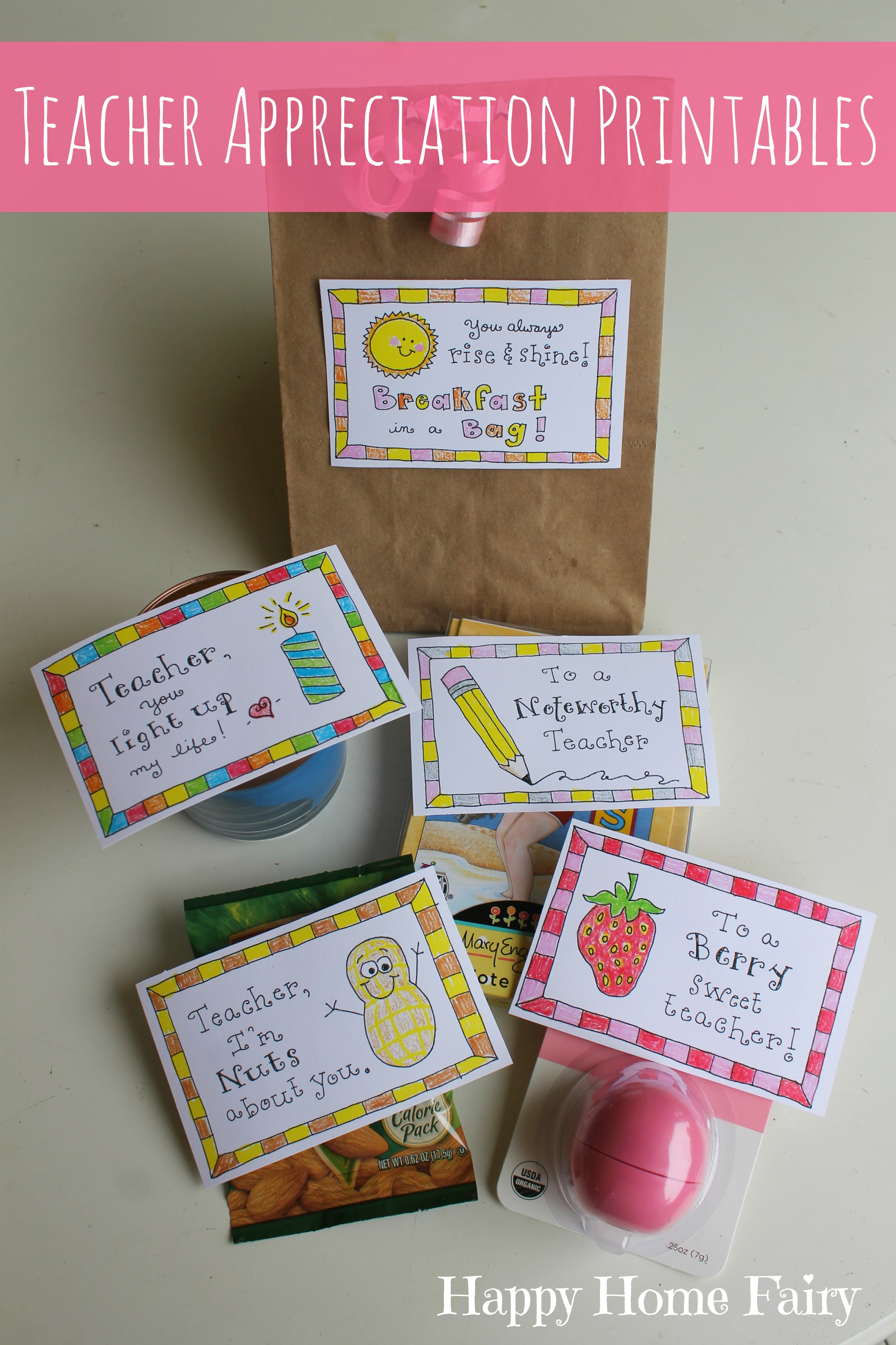 5 Simple Teacher Appreciation Gifts Free Printables