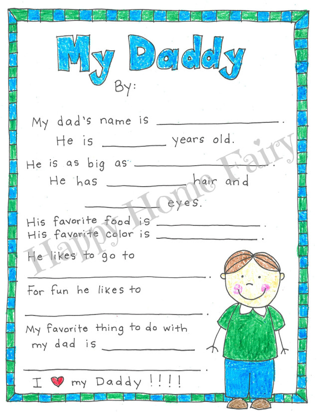 A Father S Day Project Free Printable Happy Home Fairy