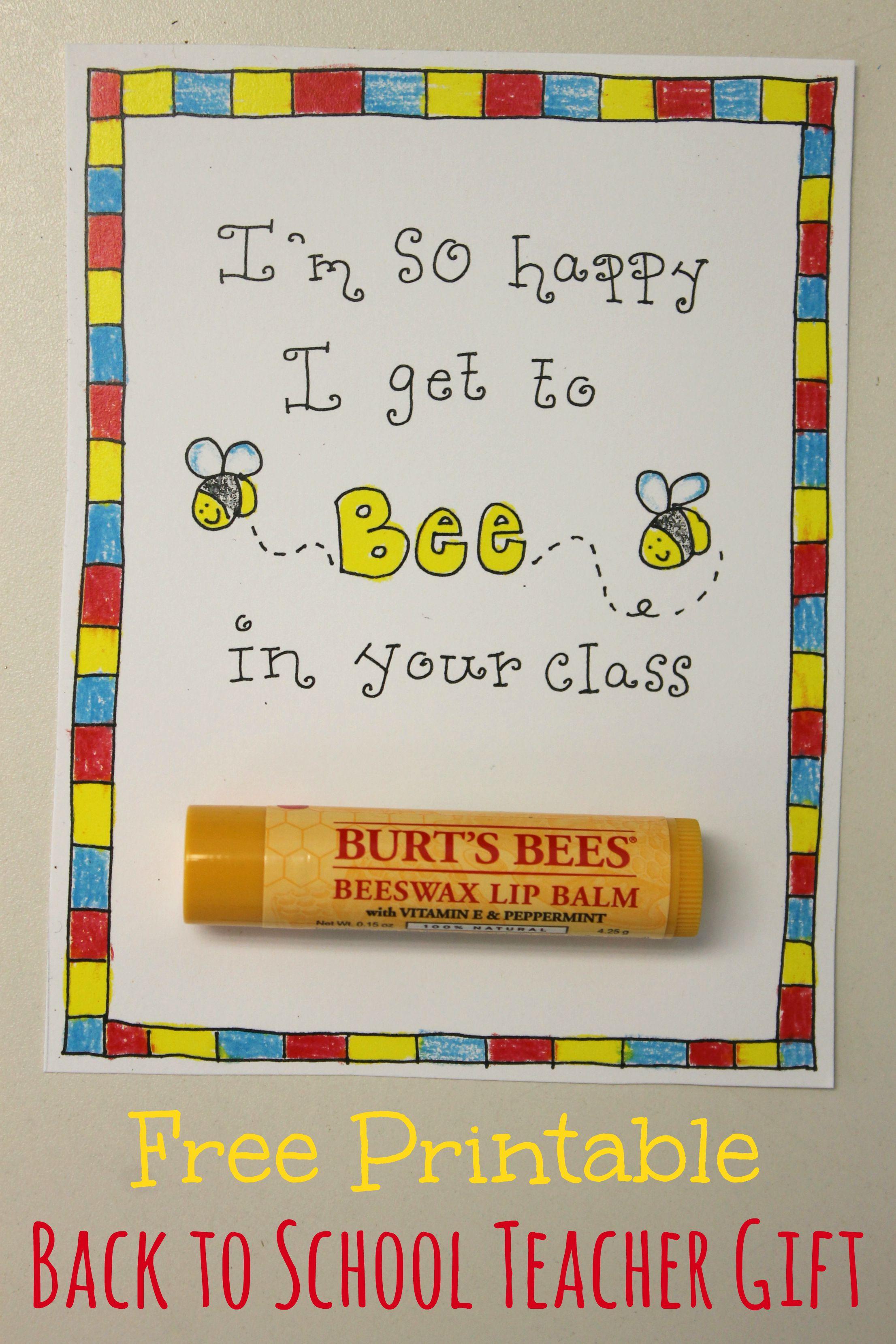 back to school teacher gift  free printable  happy home