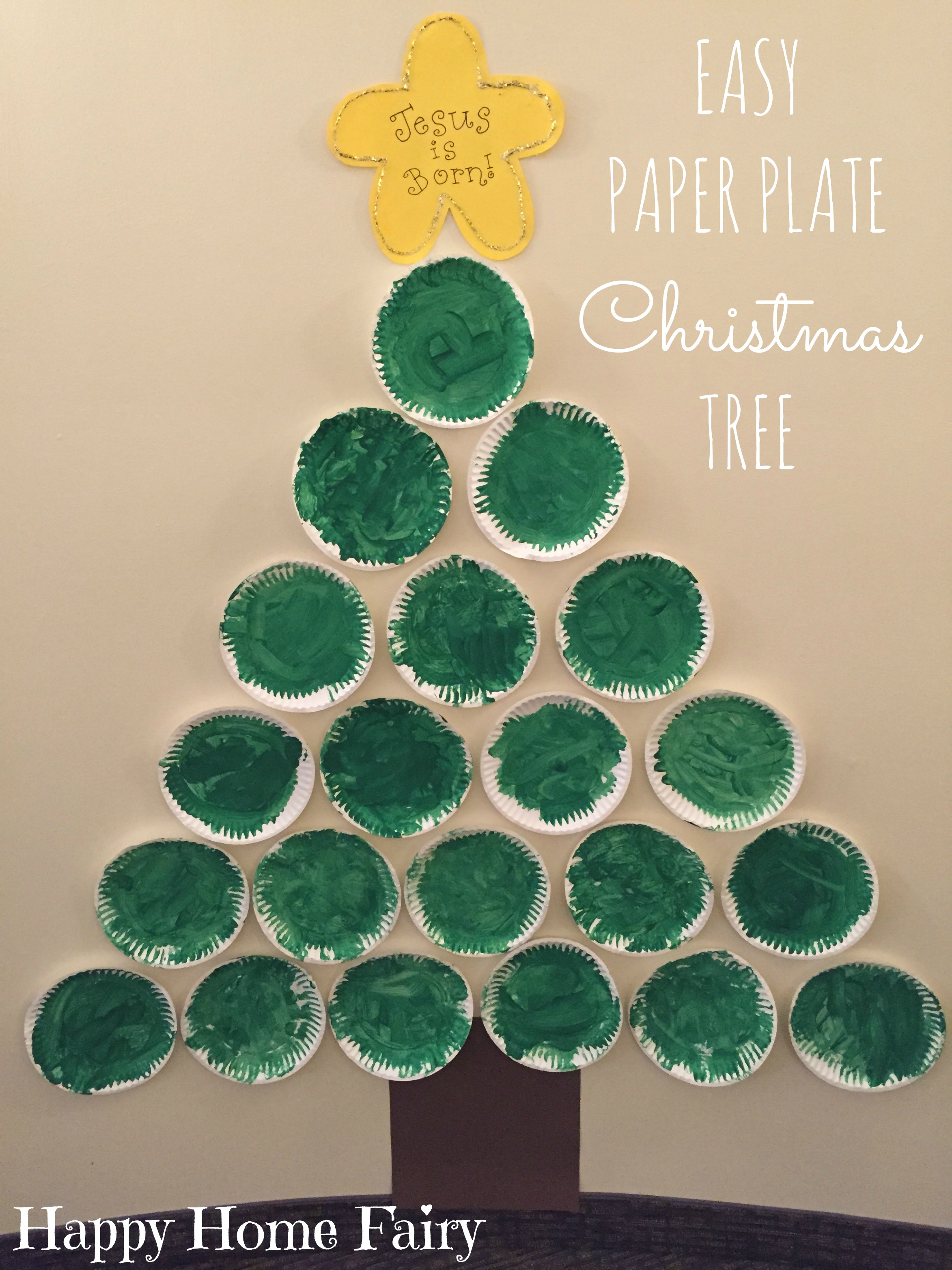 Paper Plate Christmas Tree - Happy Home Fairy