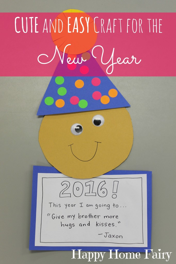 Easy New Year's Craft for Preschoolers - Happy Home Fairy