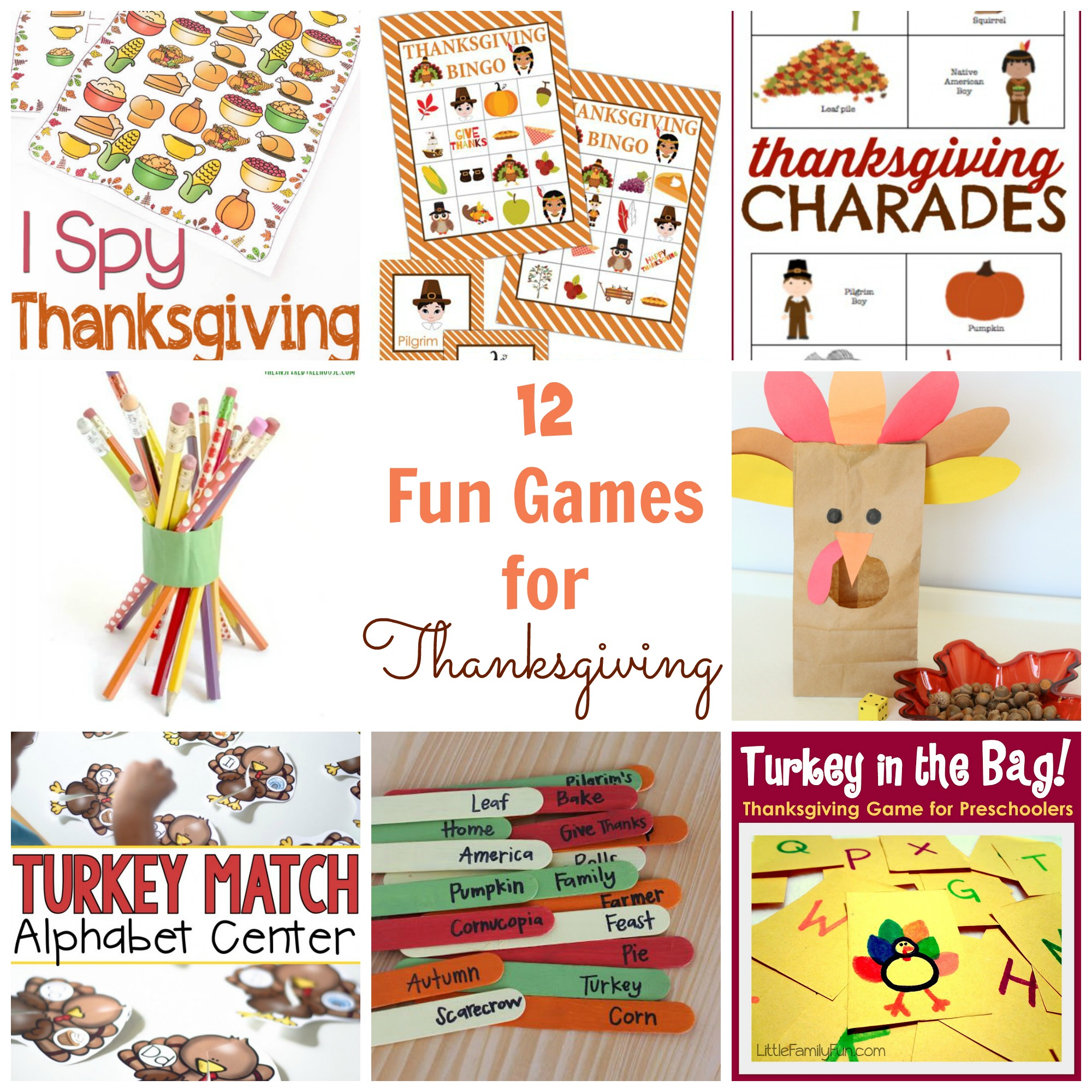 12 Fun Thanksgiving Games Happy Home Fairy