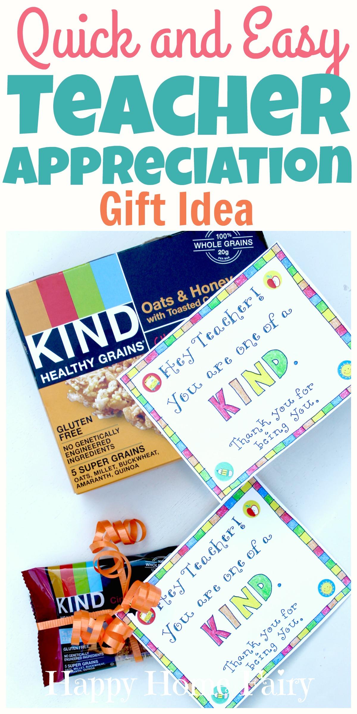 lastminute teacher appreciation gift idea  free