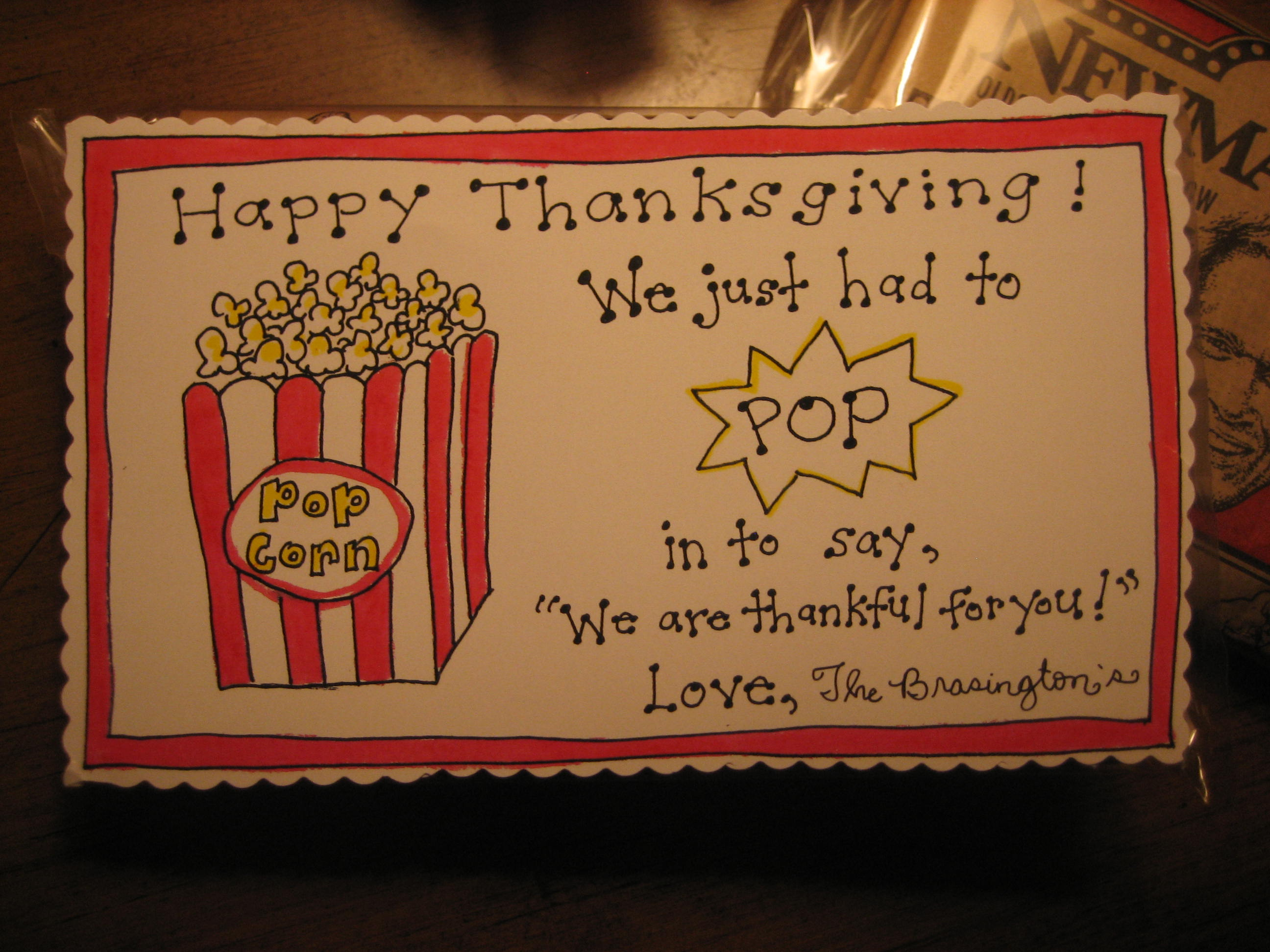 thanksgiving popcorn tags - free printable
