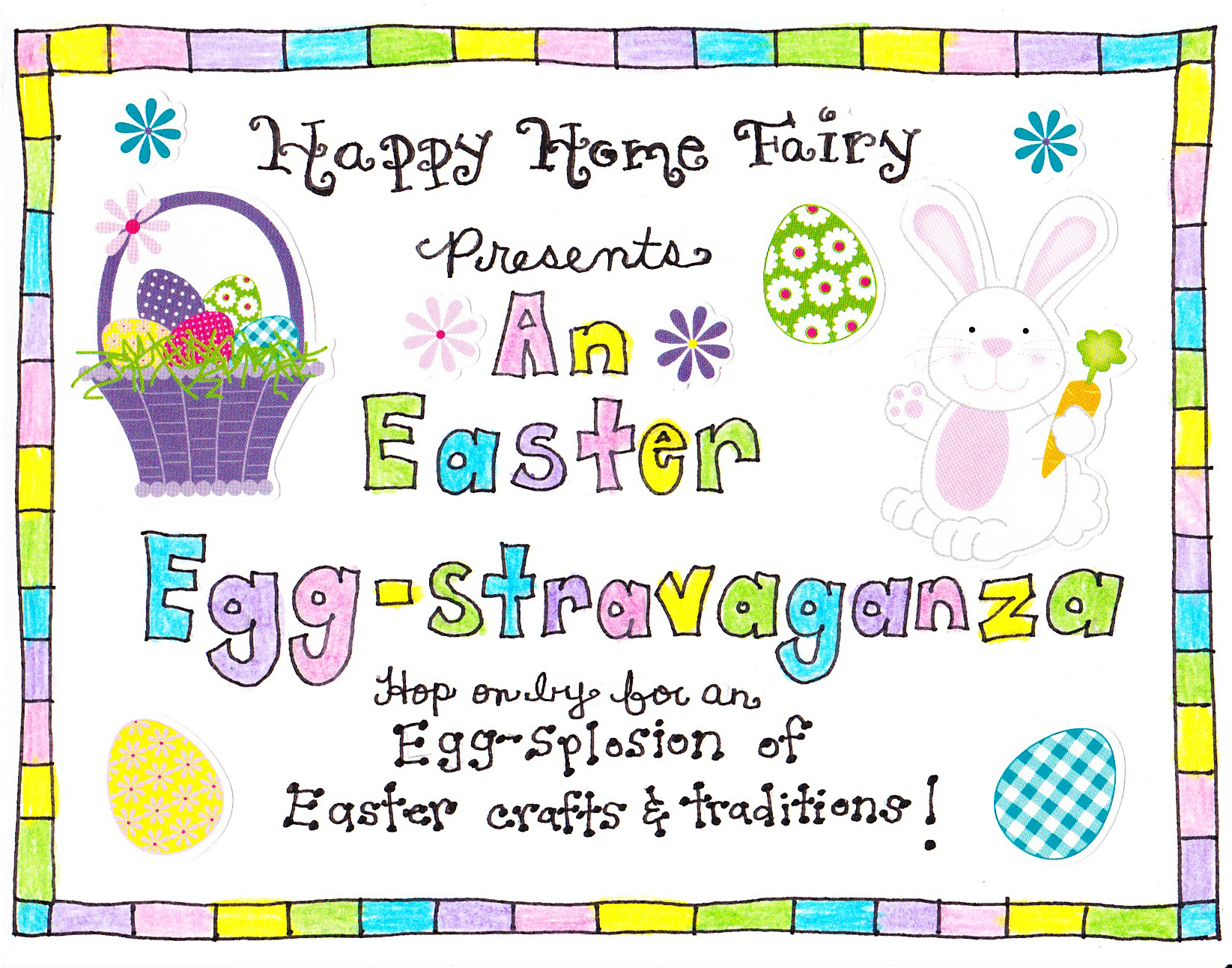 easter morning scavenger hunt - free printable! - happy home fairy