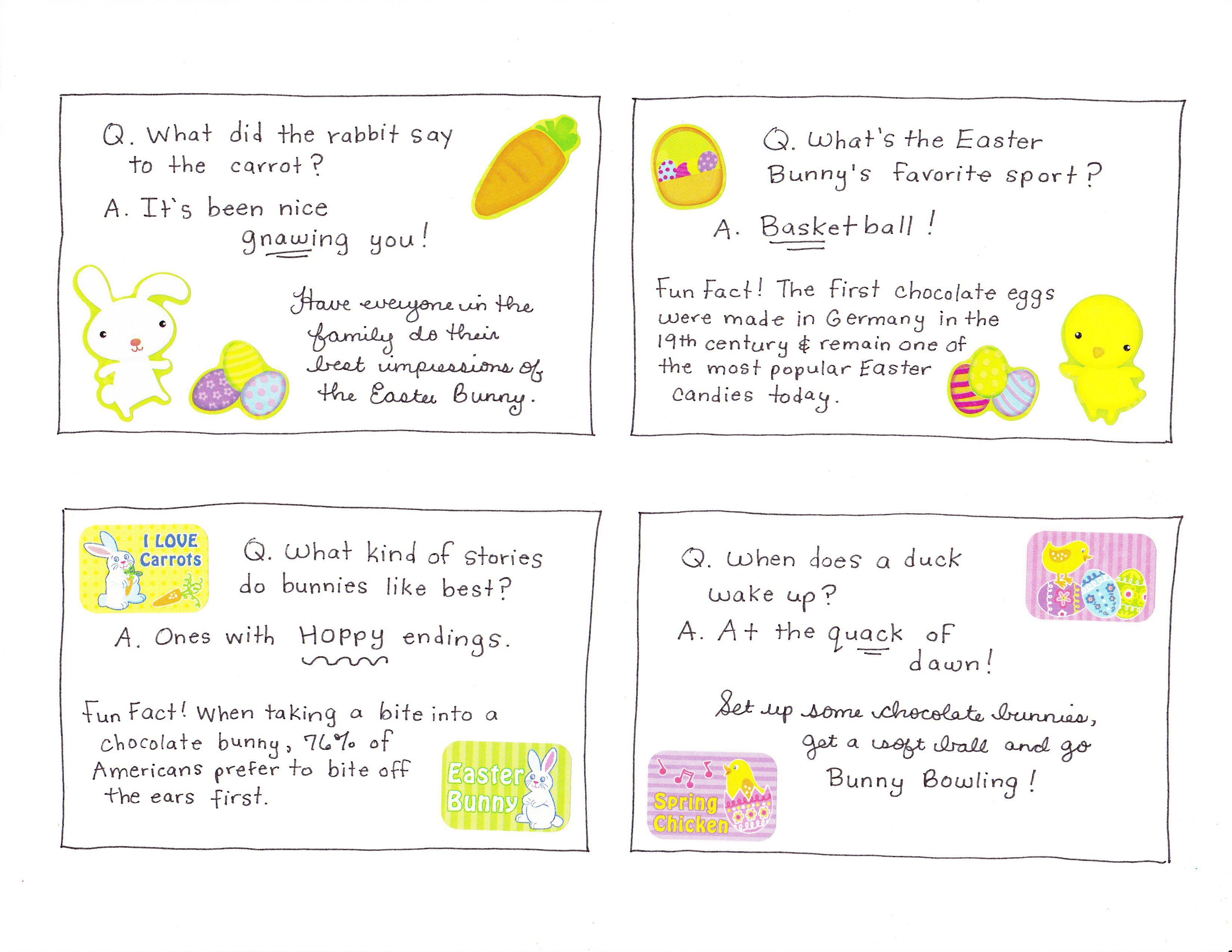 Uncategorized Easter Jokes For Kids fun easter joke and activity cards happy home fairy