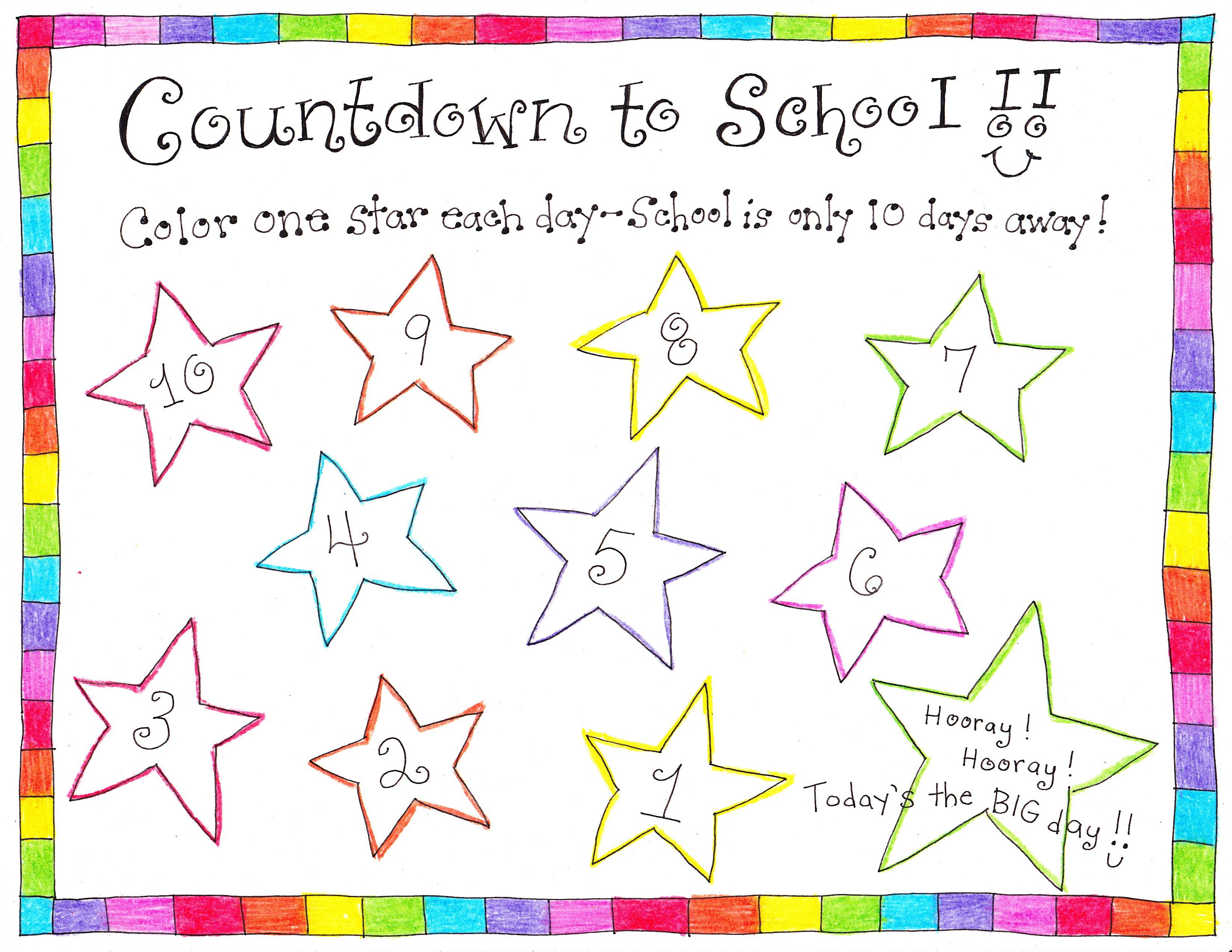 Back To School Countdown on Abc Countdown Calendars
