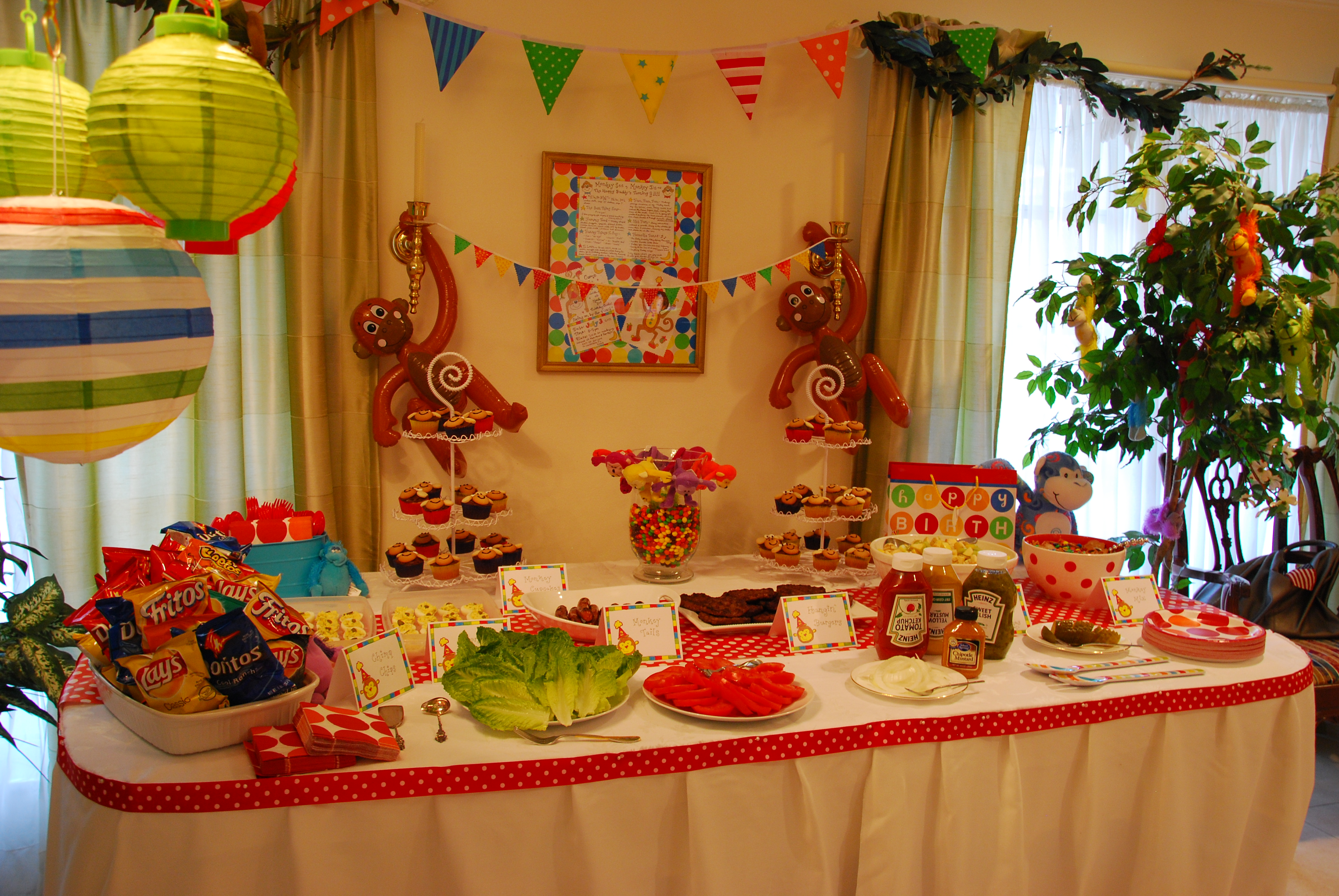 The Happy Buddy S Monkey Birthday Party Happy Home Fairy