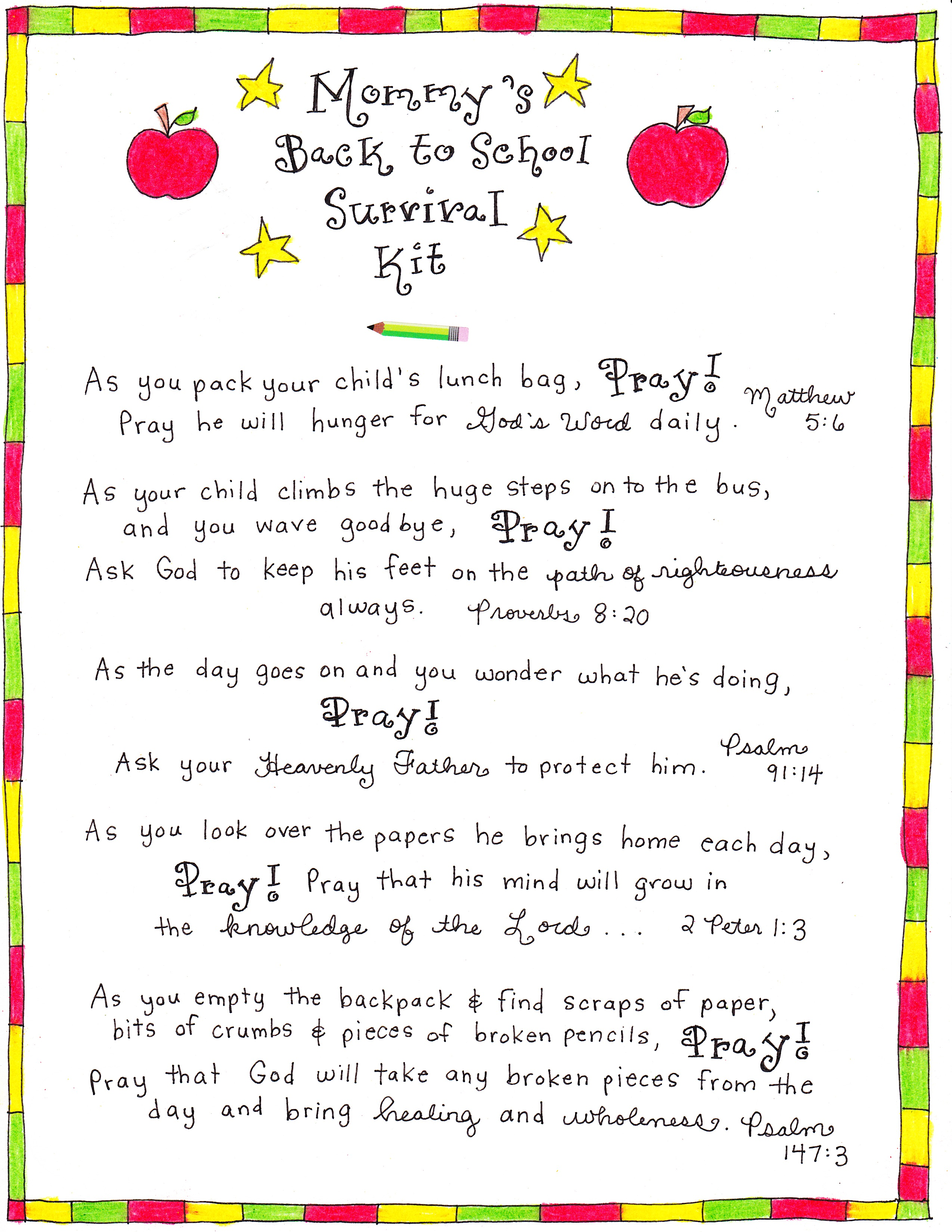 Mommy's Back to School Survival Kit - Happy Home Fairy