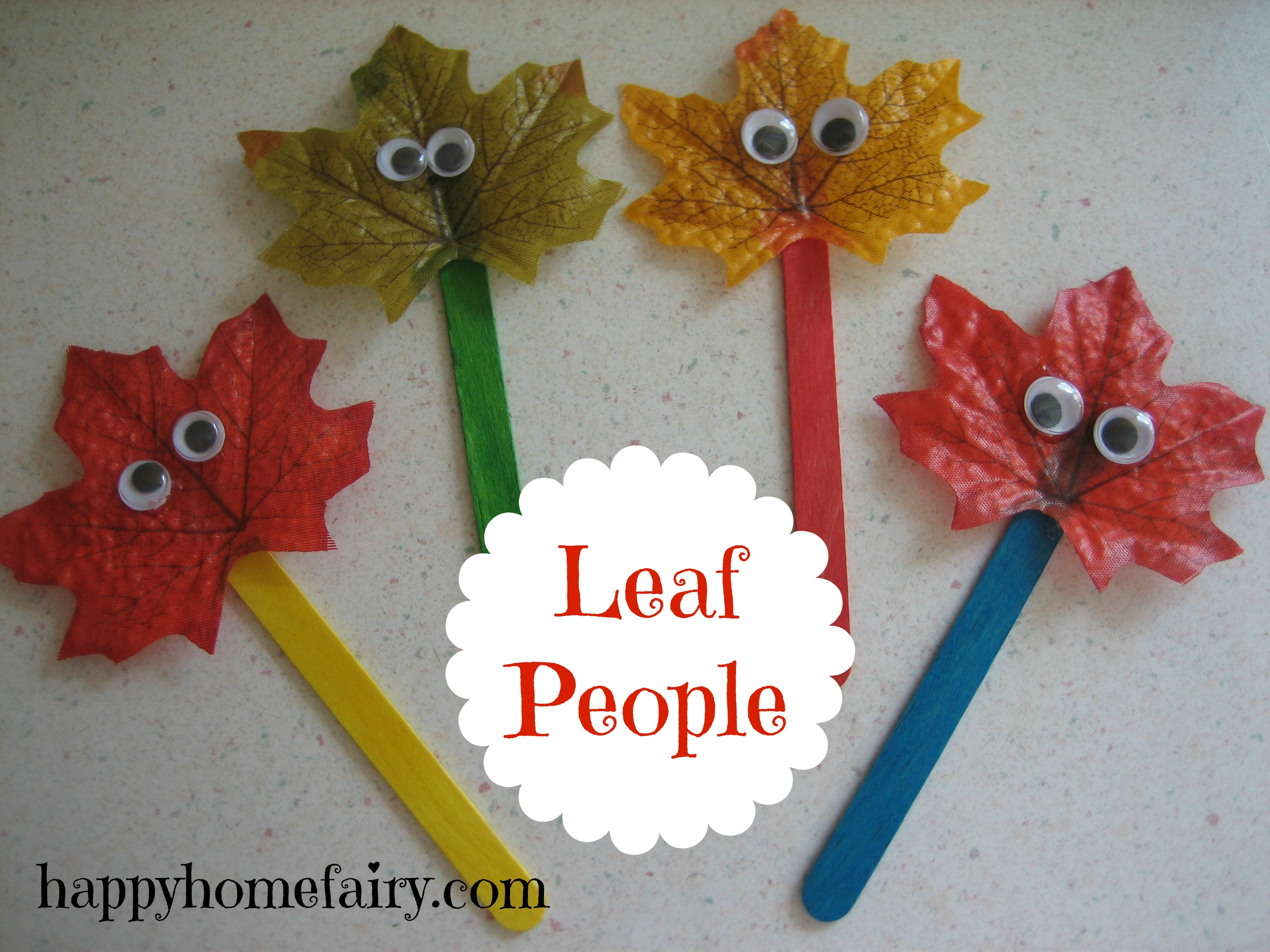 Leaf People Free Printable Happy Home Fairy