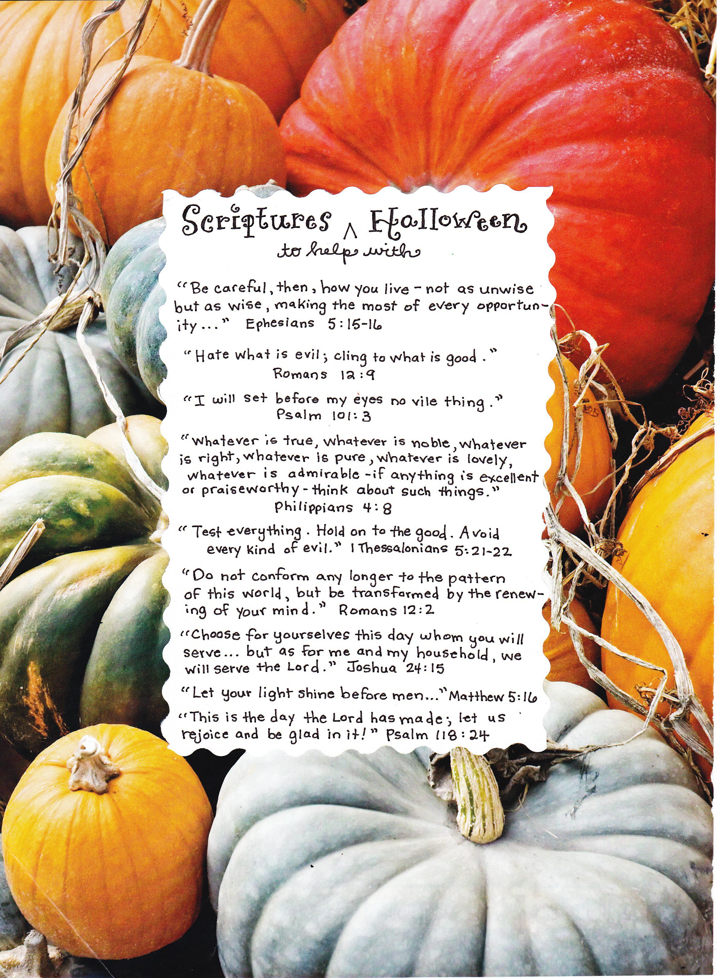 Scriptures for Halloween