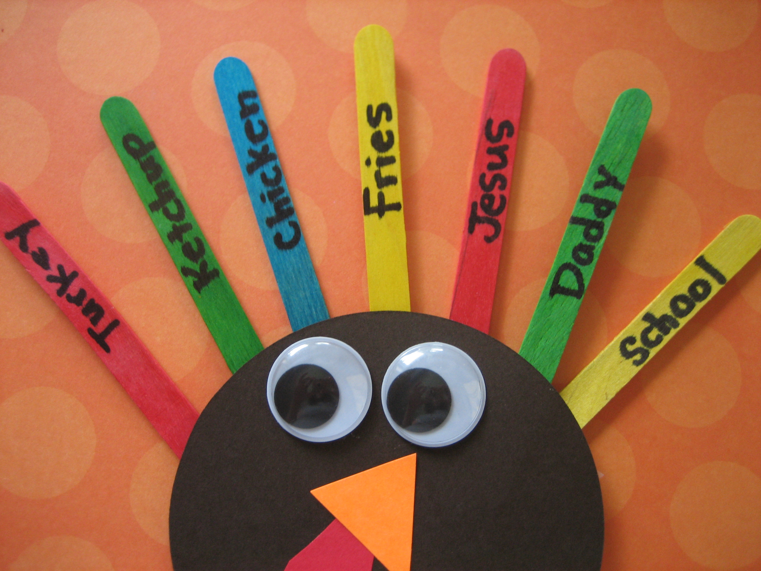 One more adorable turkey craft happy home fairy for Sticky boards for crafts