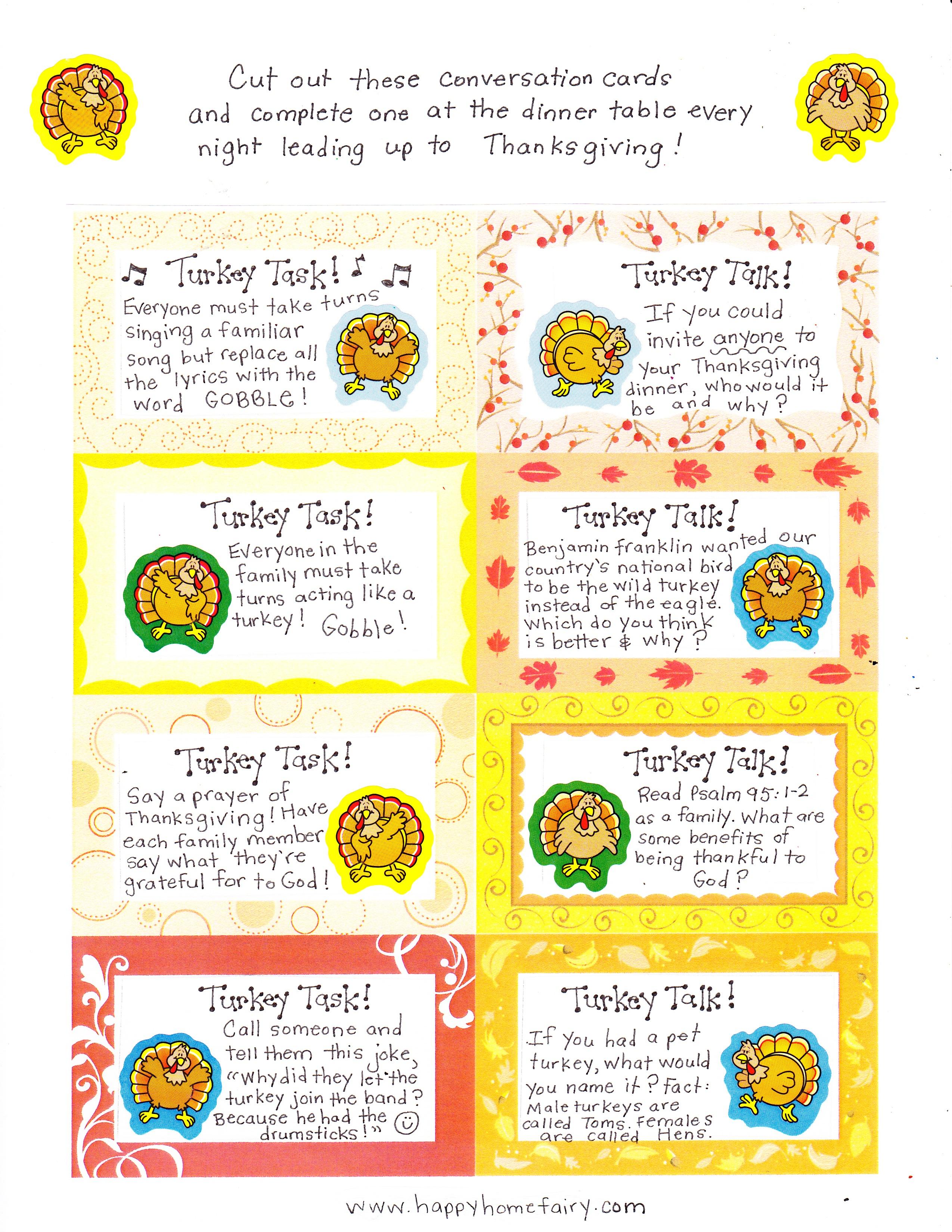 thanksgiving activity 4th grade