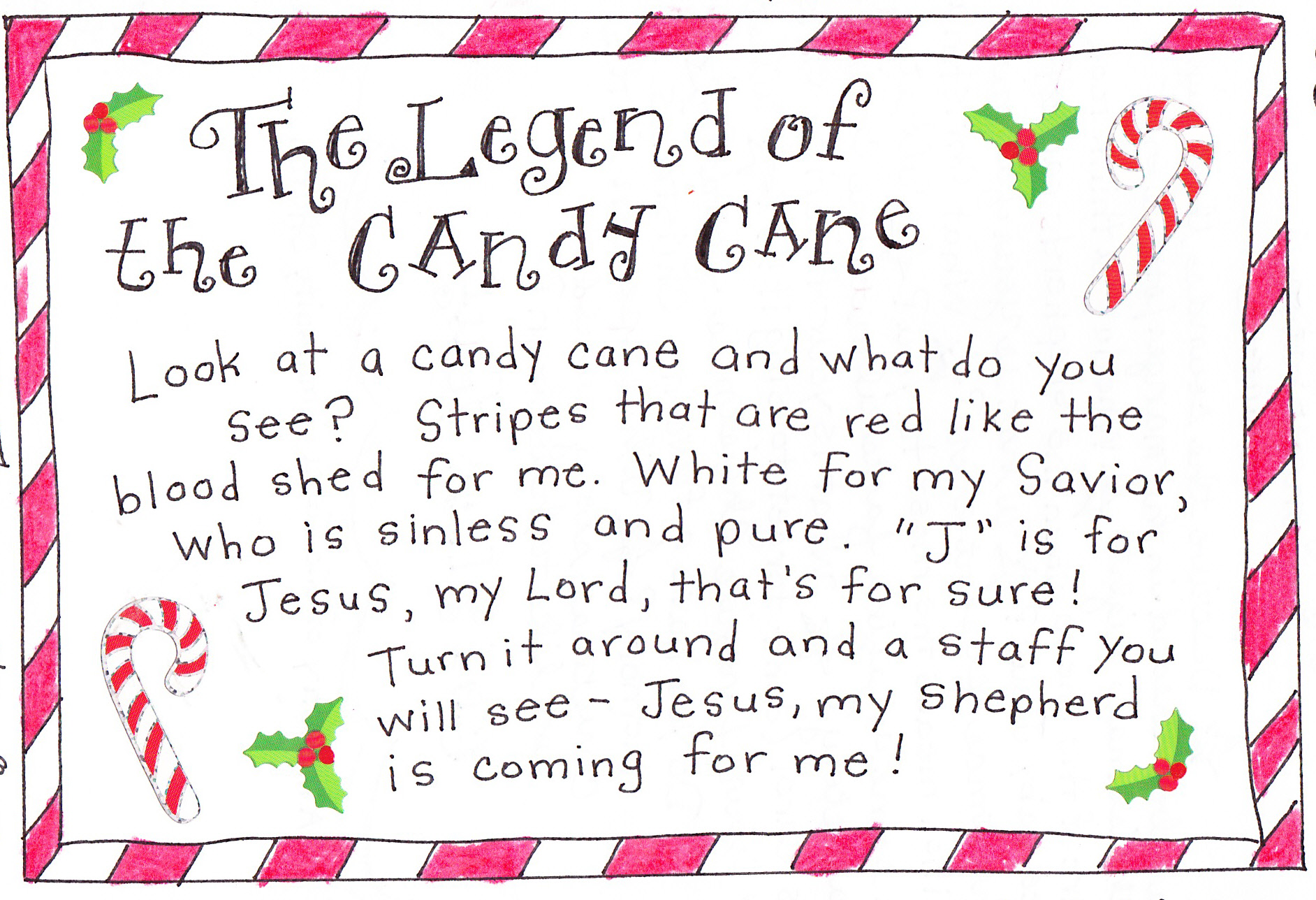 The Legend of the Candy Cane - FREE Printable! - Happy ...