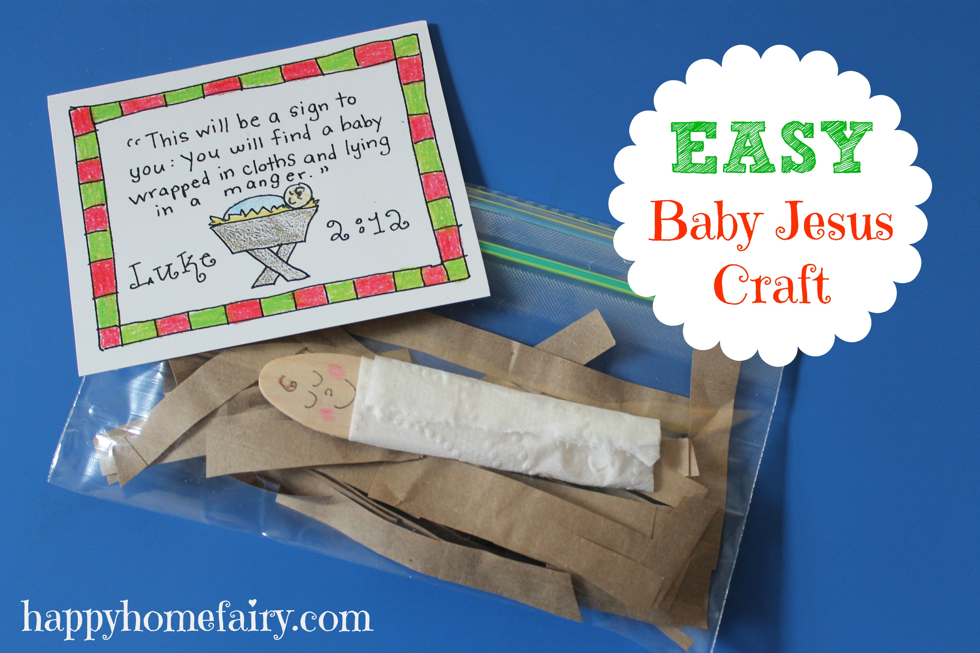 Baby Jesus Crafts And Ideas Happy Home Fairy