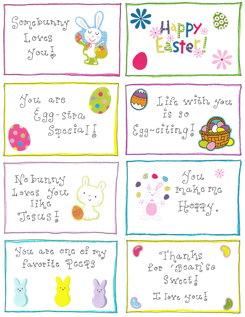 easter name tags template - easter lunchbox love notes free printable happy home