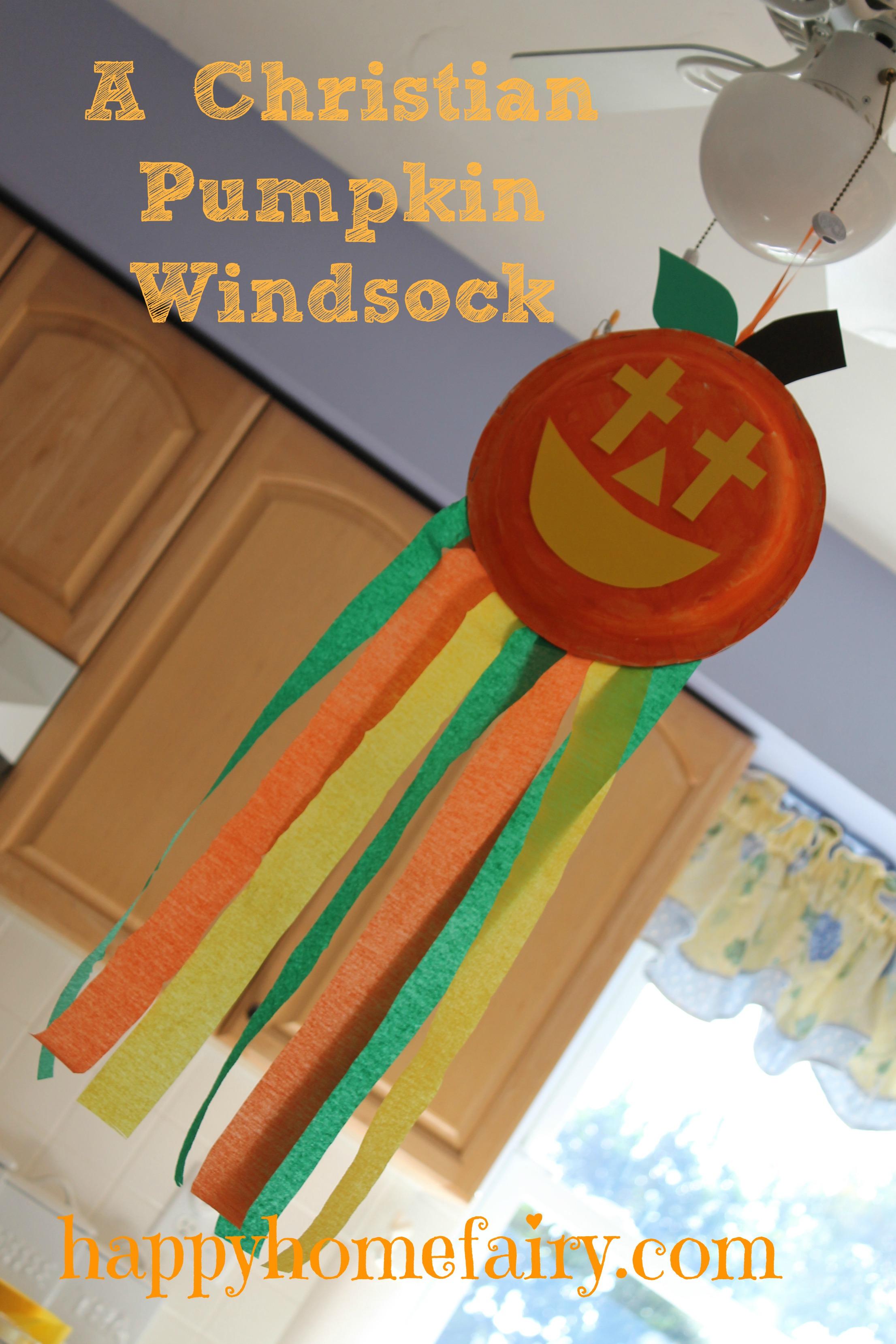 A Christian Pumpkin Windsock Craft Free Printable