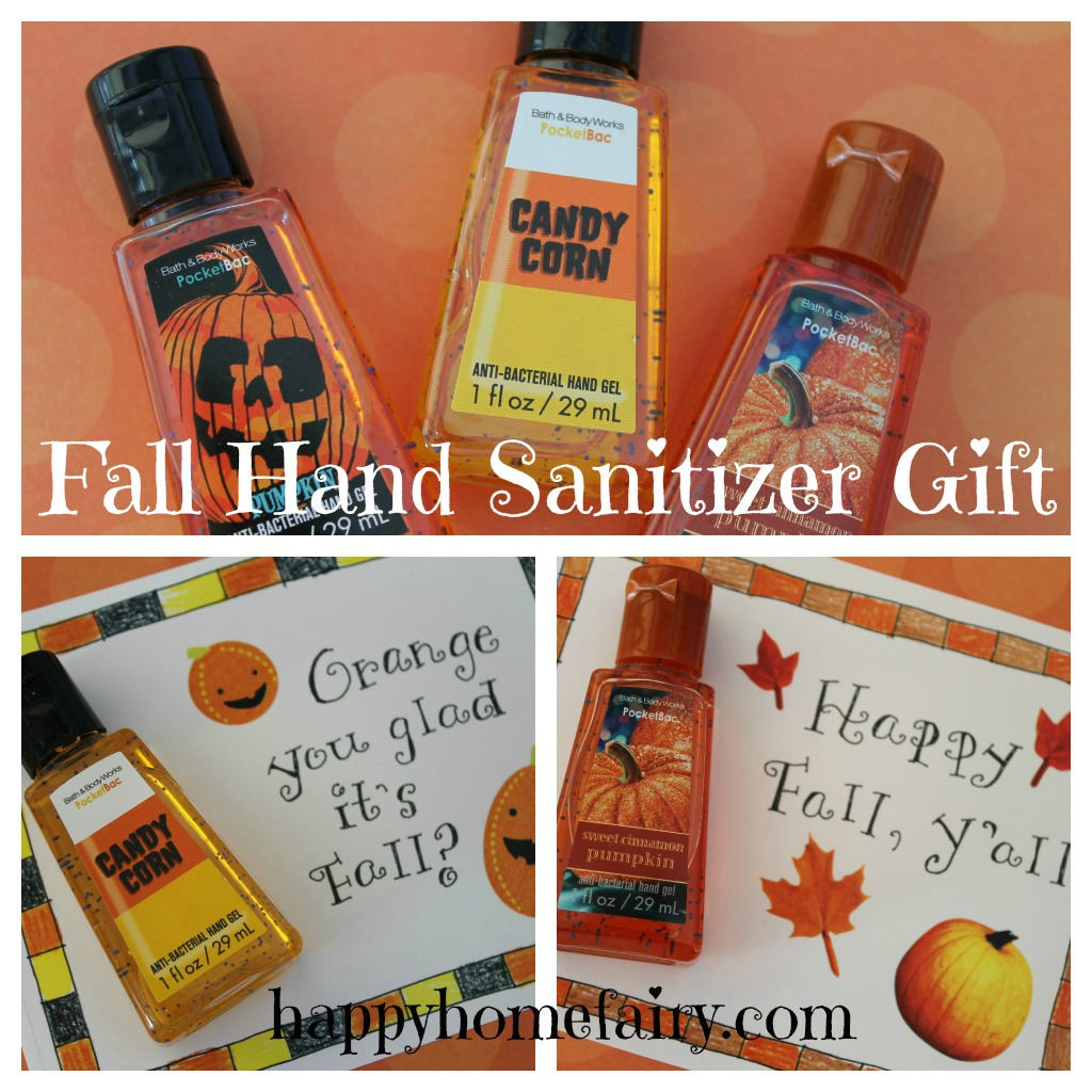 Free Printable Fall Hand Sanitizer Gift Happy Home Fairy