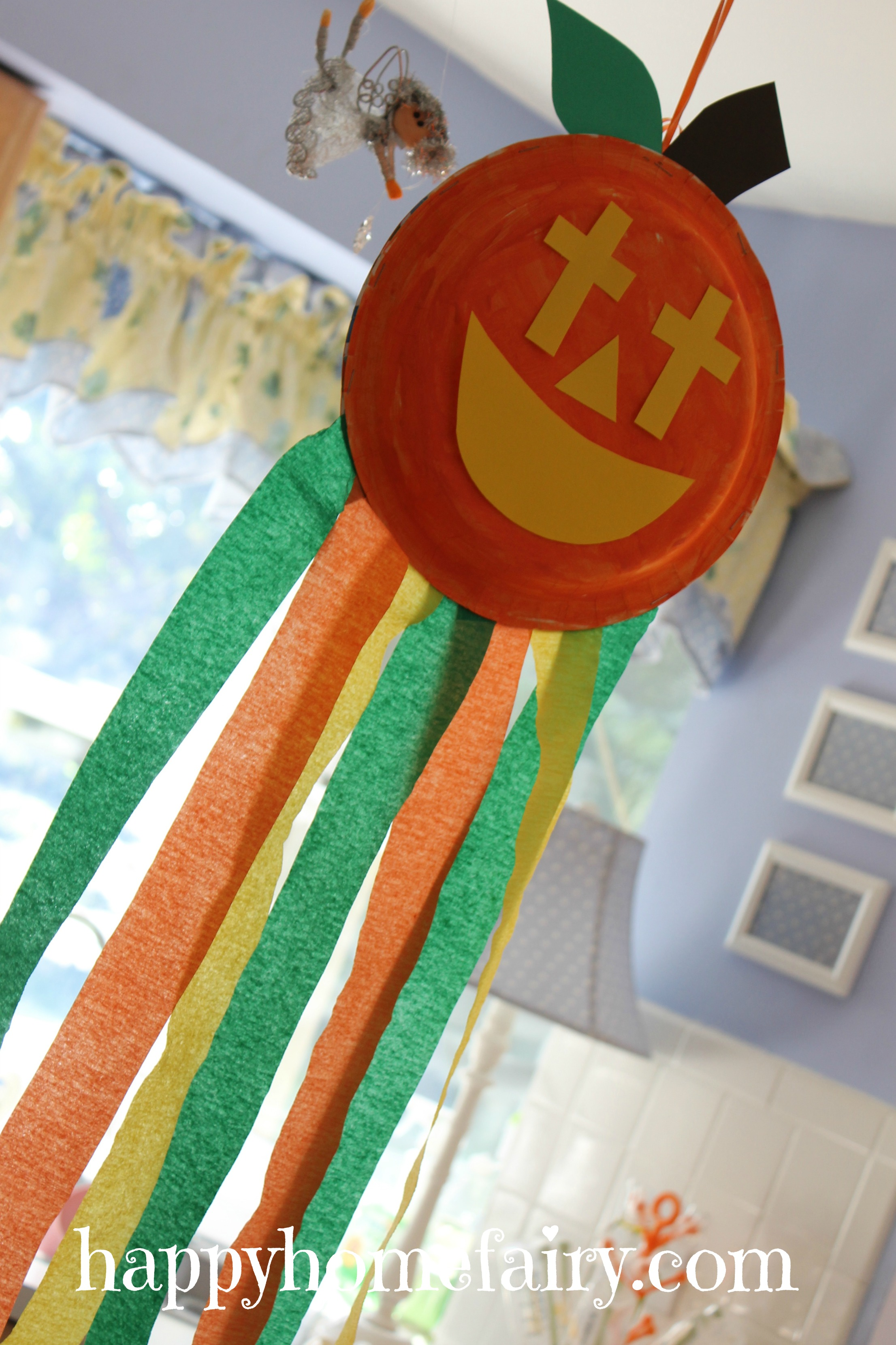 A Christian Pumpkin Windsock Craft Free Printable