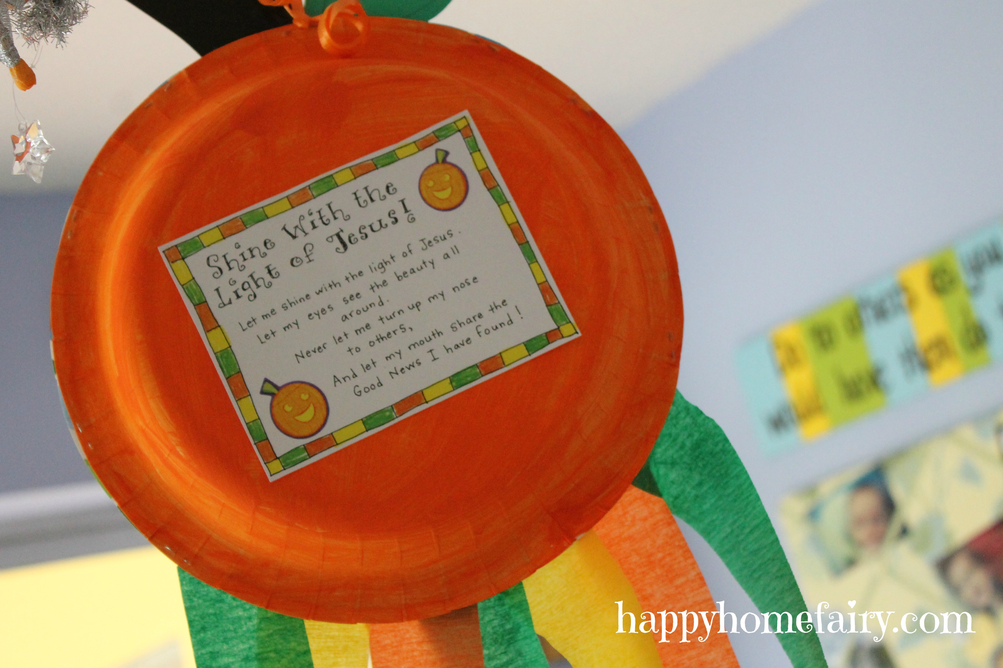 A Christian Pumpkin Windsock Craft