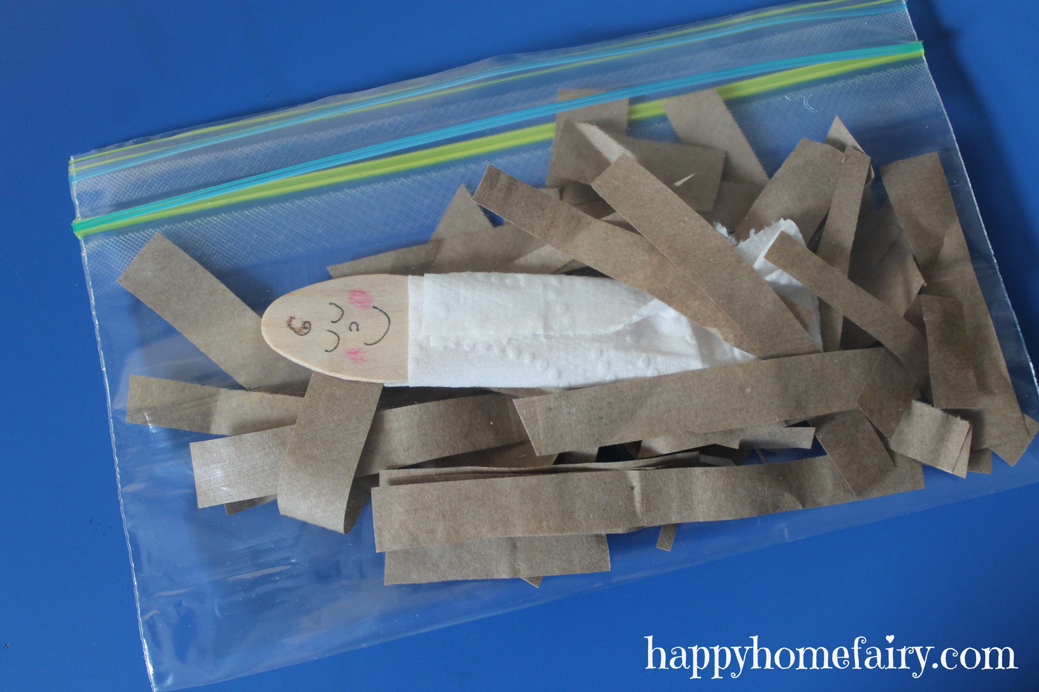 easy baby jesus craft - free printable