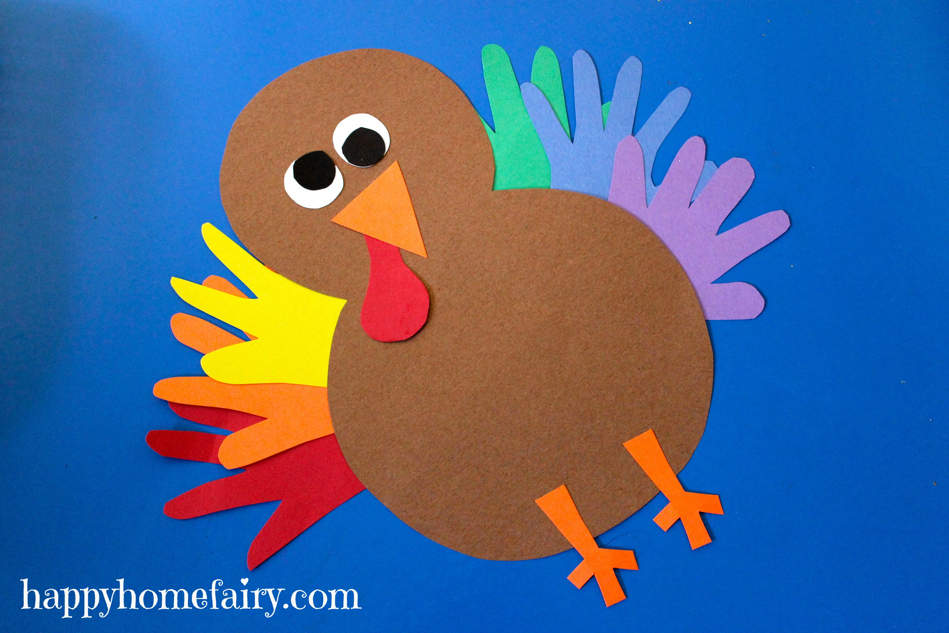 Turkey Made Out Of Handprint Crafts For Kids