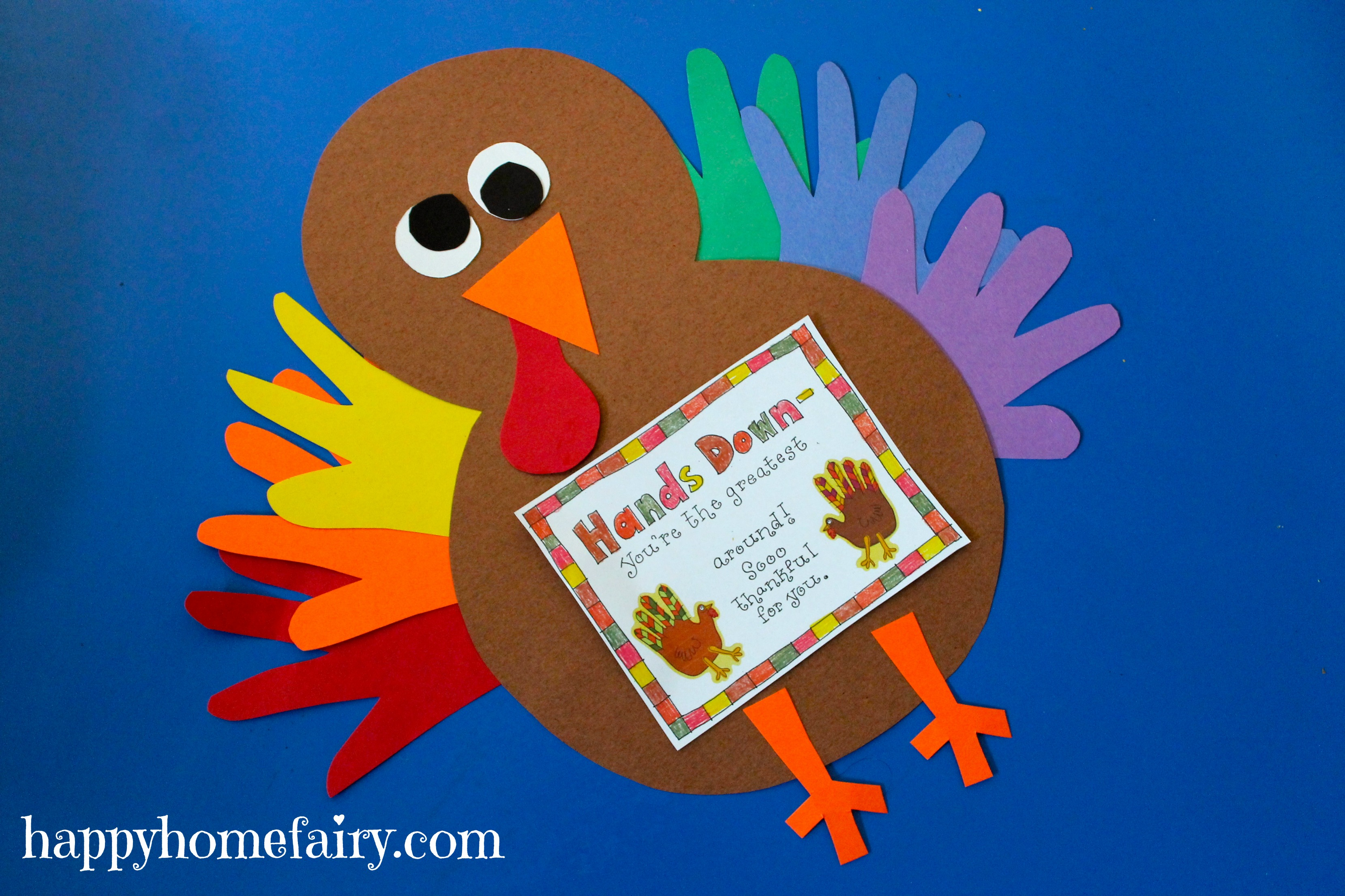 Preschool Turkey Crafts Handprint