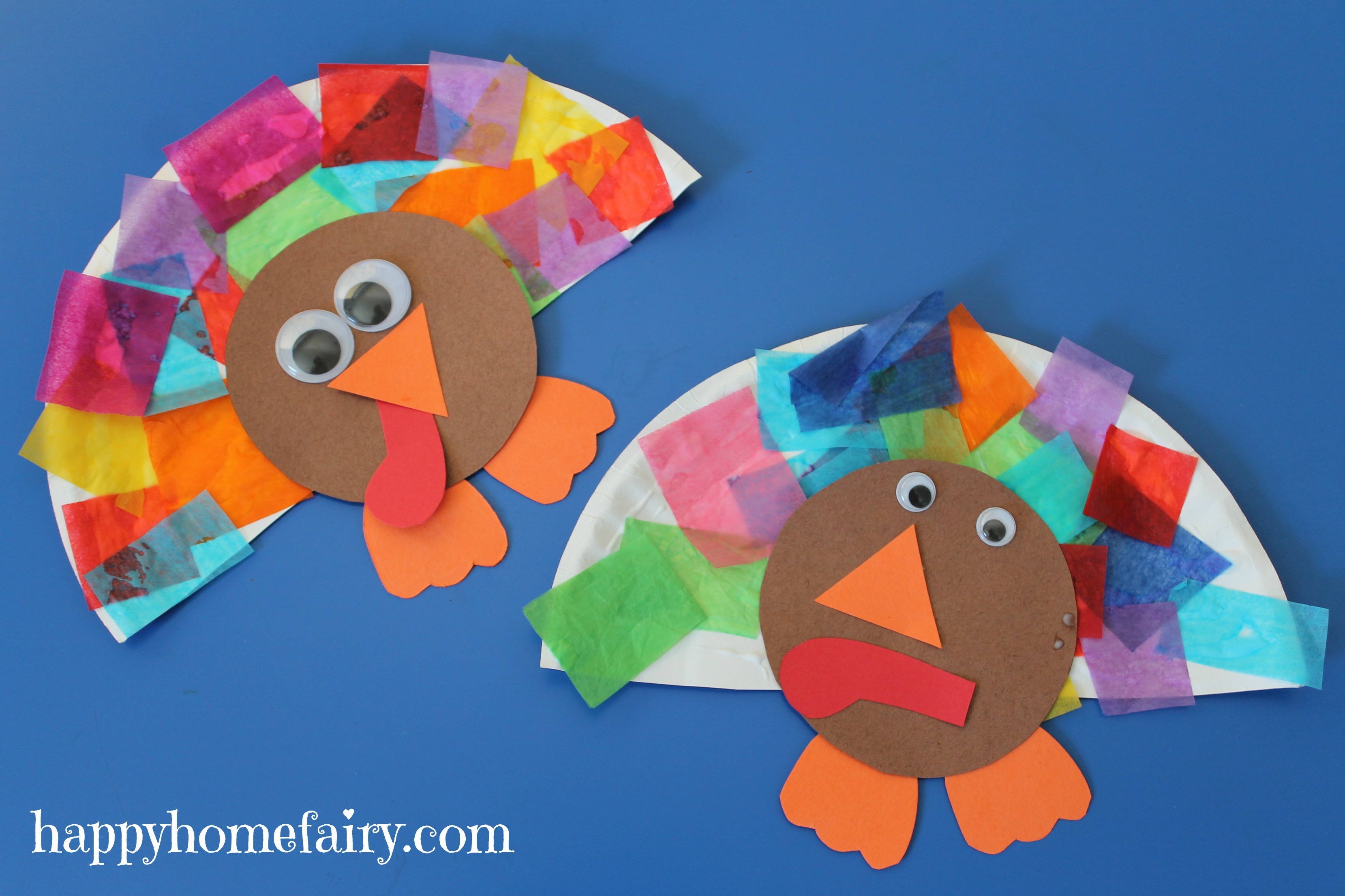 Easy turkey craft happy home fairy for Thanksgiving turkey arts and crafts