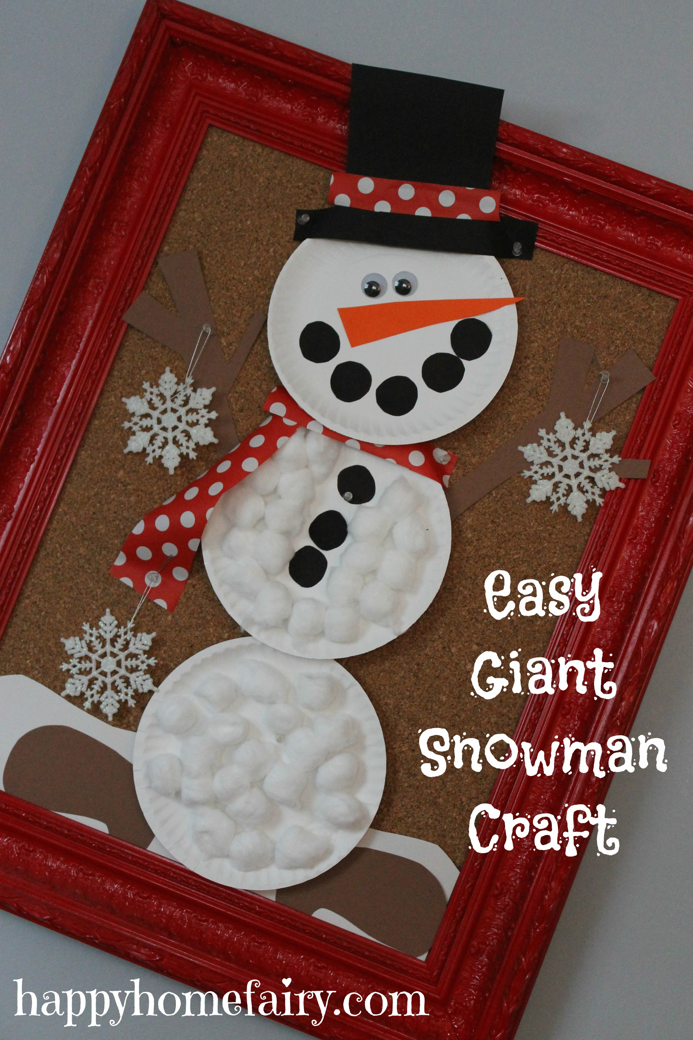 Delightful Snowman Craft Ideas For Kids Part - 8: Happy Home Fairy