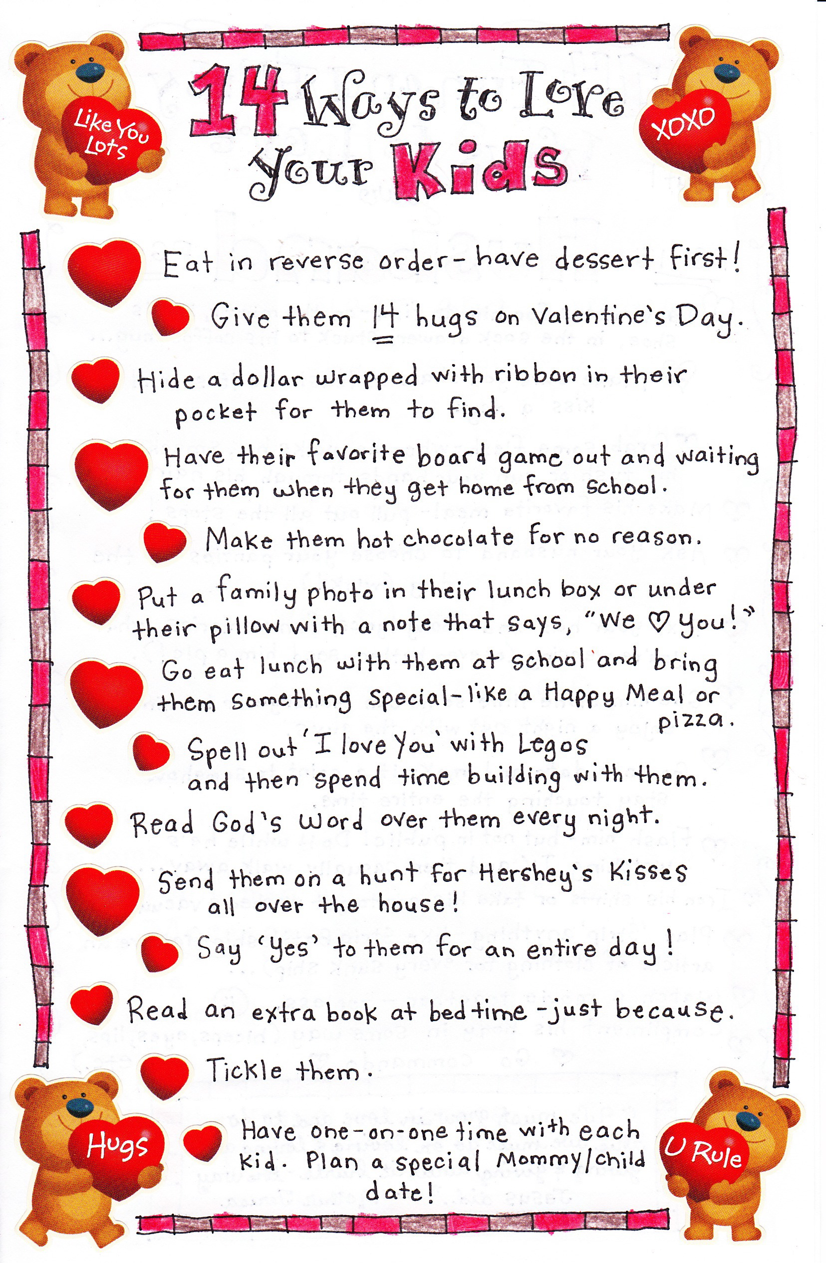 Uncategorized Valentines Poem For Kids 14 ways to love your kids happy home fairy