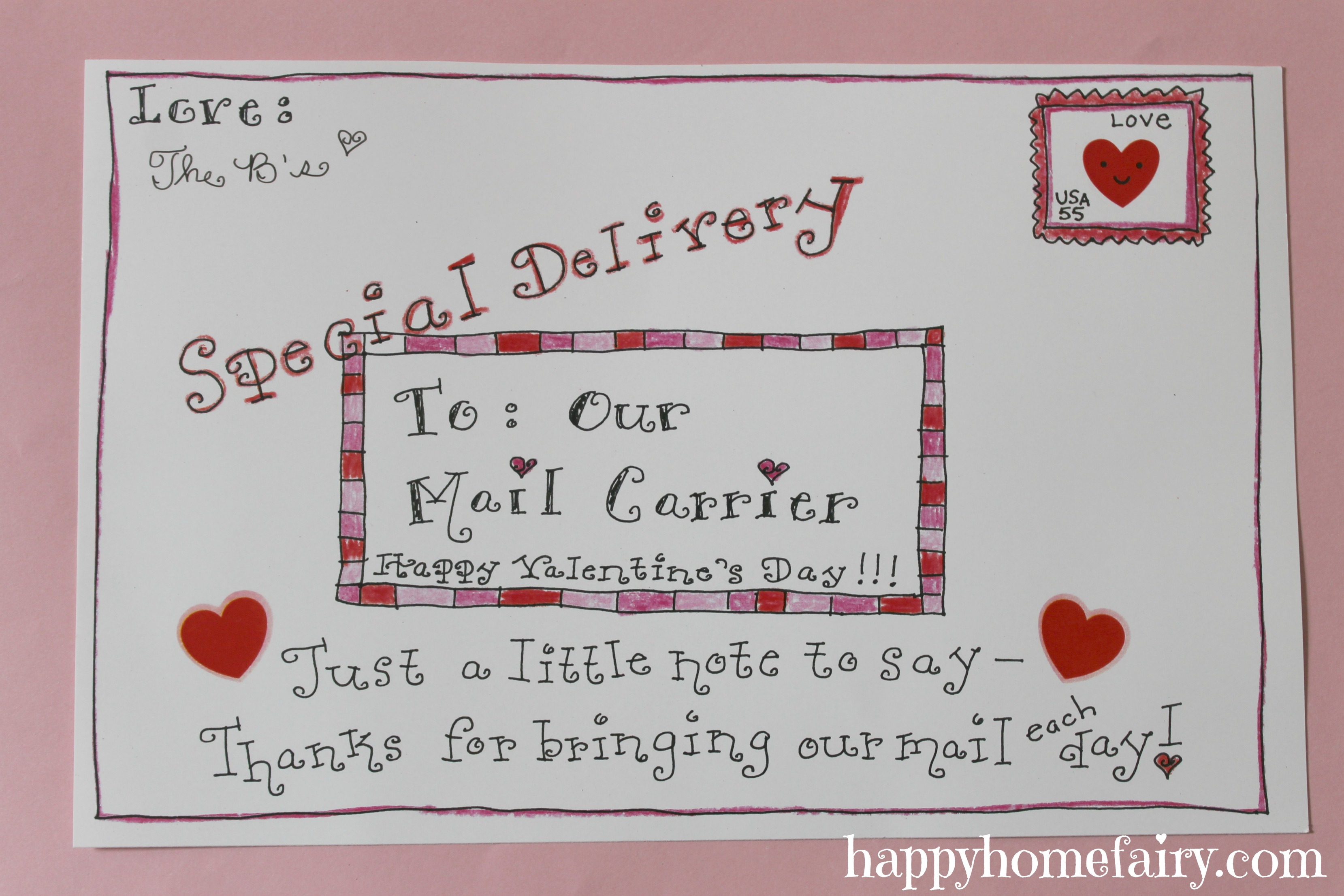 Letter Carrier Thank You Cards Choice Image  Letter Format Examples